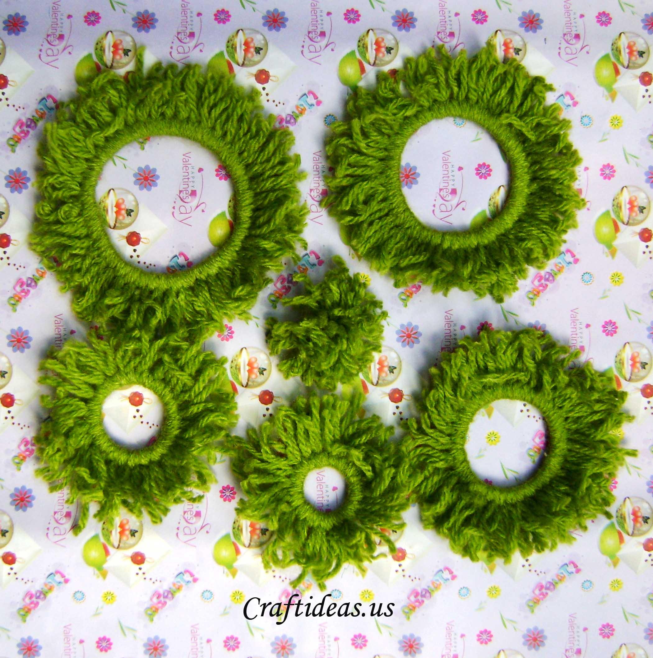 christmas crafts woolen christmas tree craft ideas