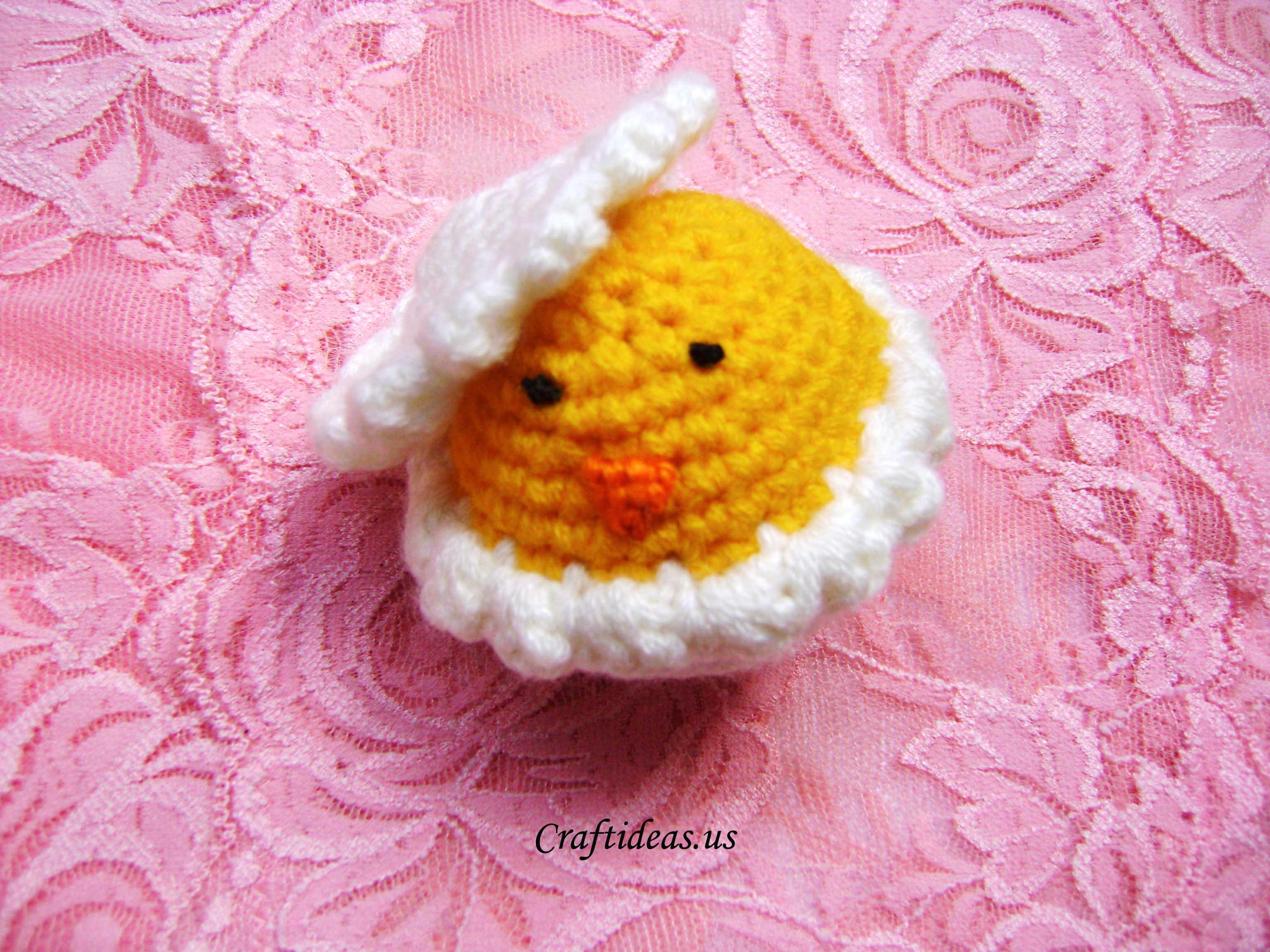 Easter craft ideas: crochet cute chick - Craft Ideas