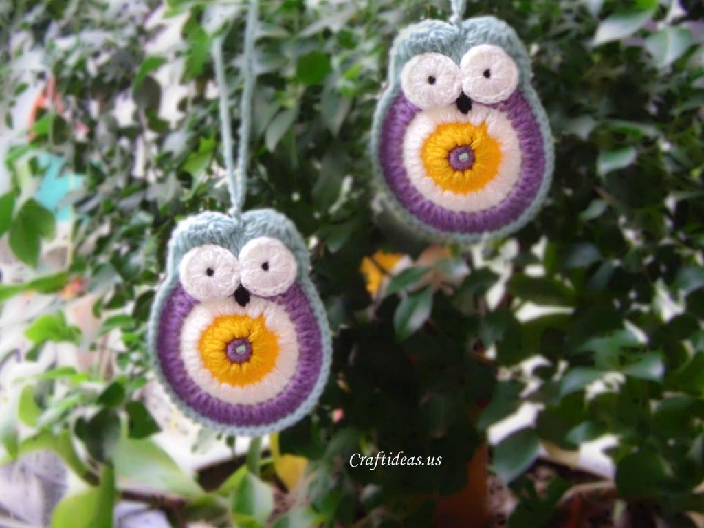 Crochet owl ornament tutorial - Craft Ideas