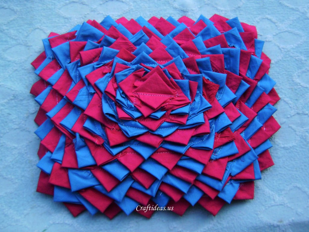 Recycling Ideas Flower Rug From Old Clothes Craft Ideas
