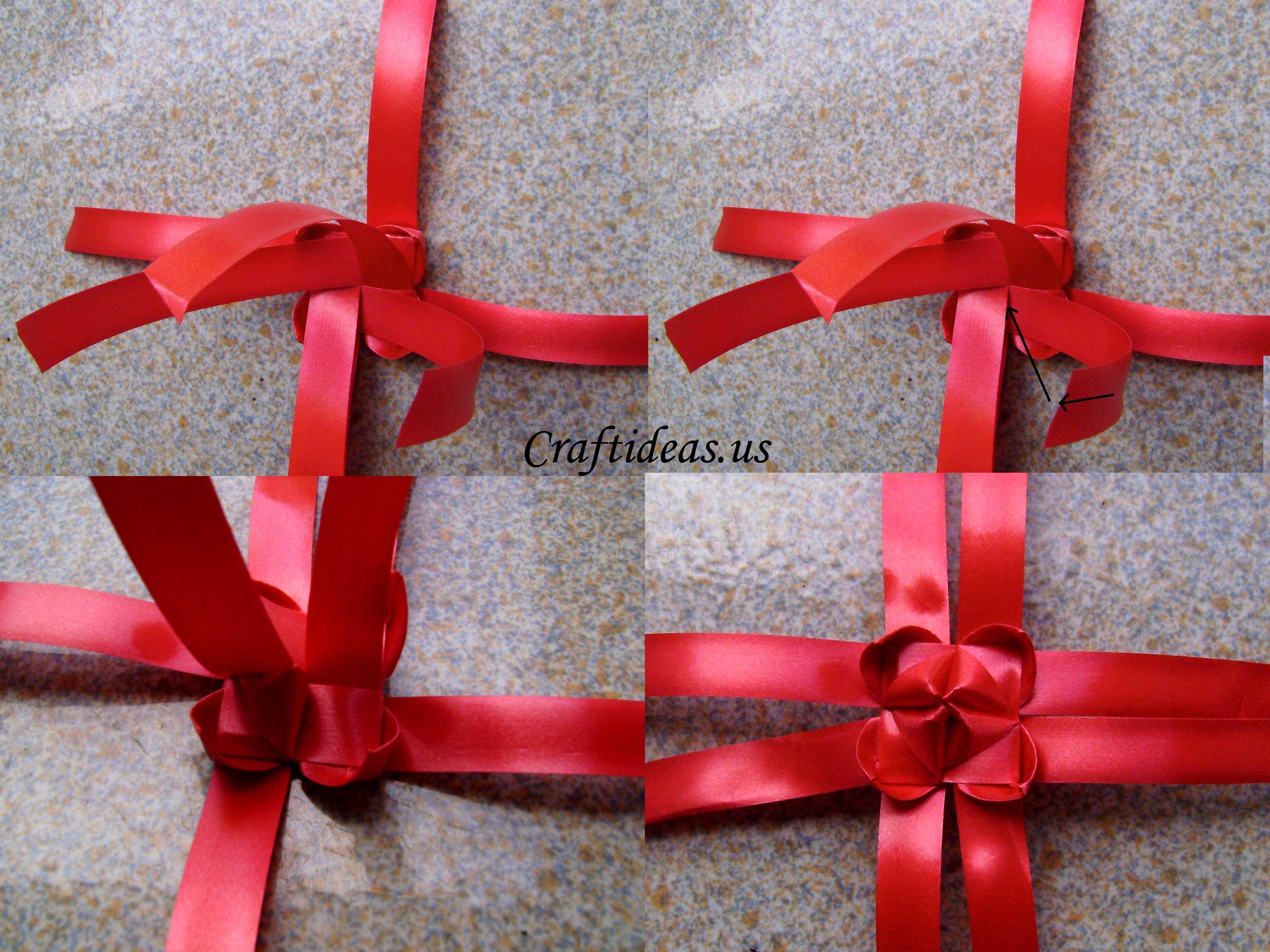 Fold ribbon lantern tutorial craft ideas for Ribbon crafts to make