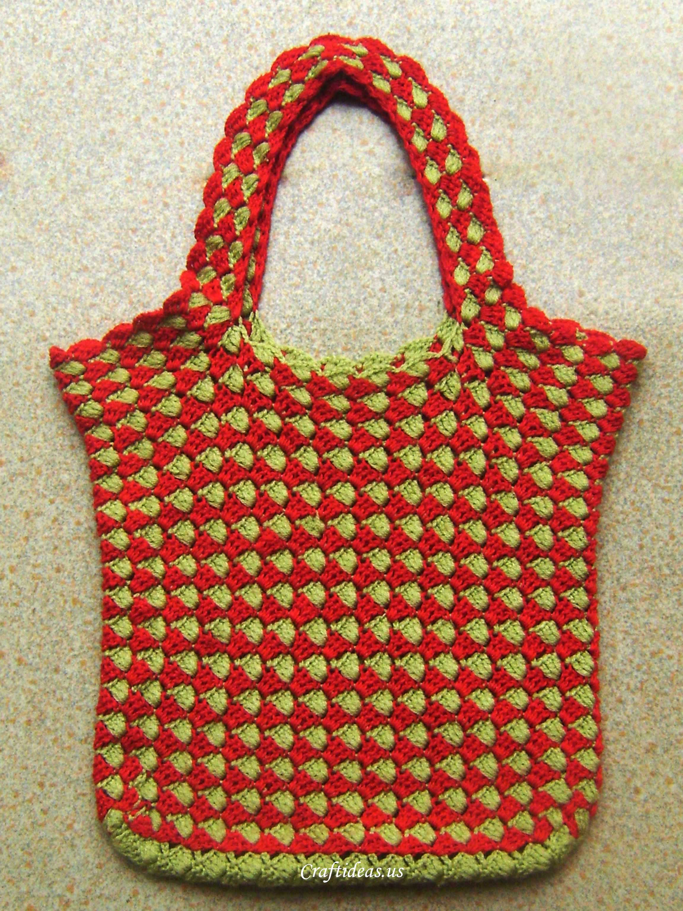 Crochet Bags And Purses Tutorial : crochet bag