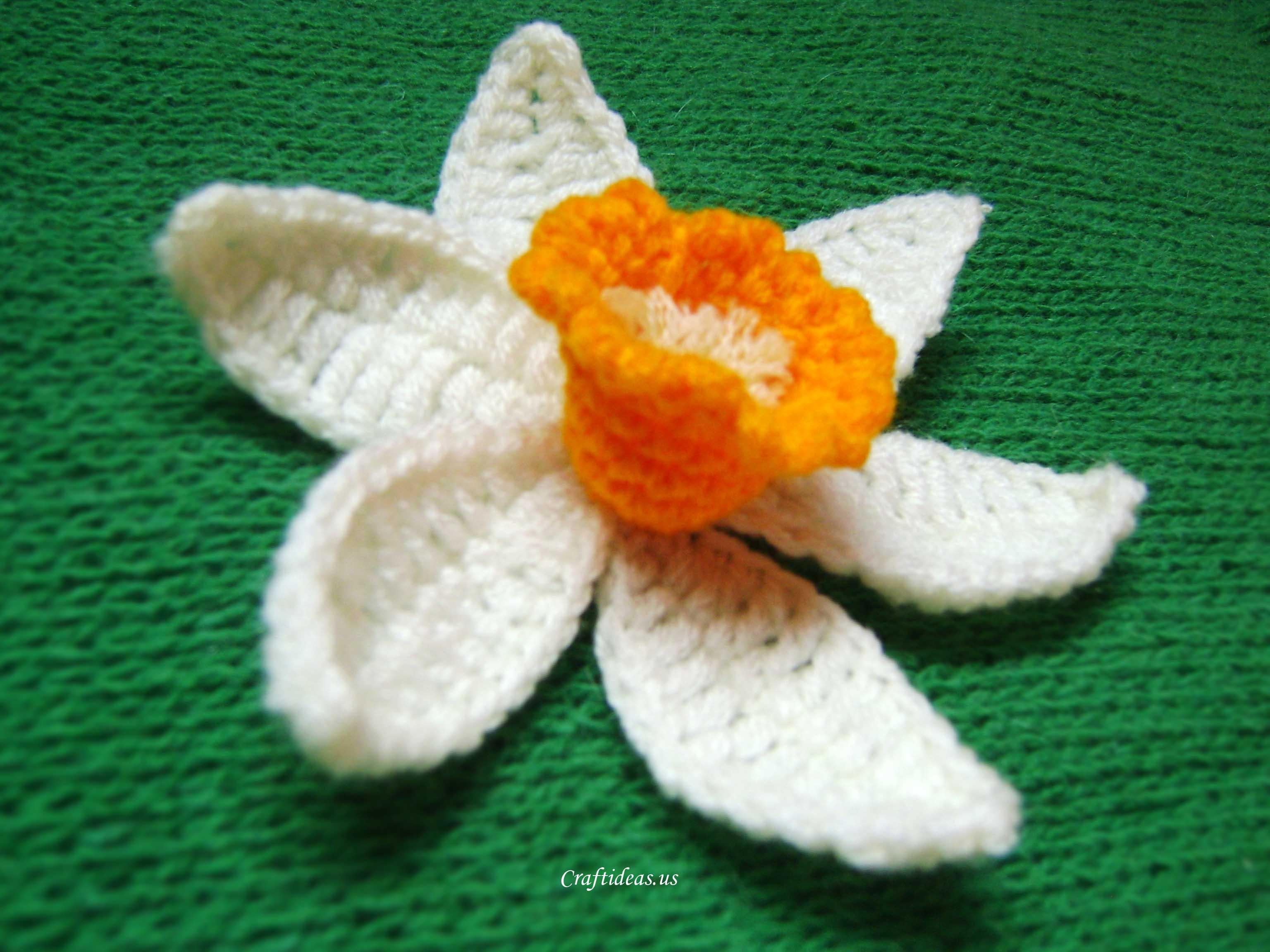Free Pattern Crochet Daffodil : Pics Photos - Crochet Daffodil Pattern