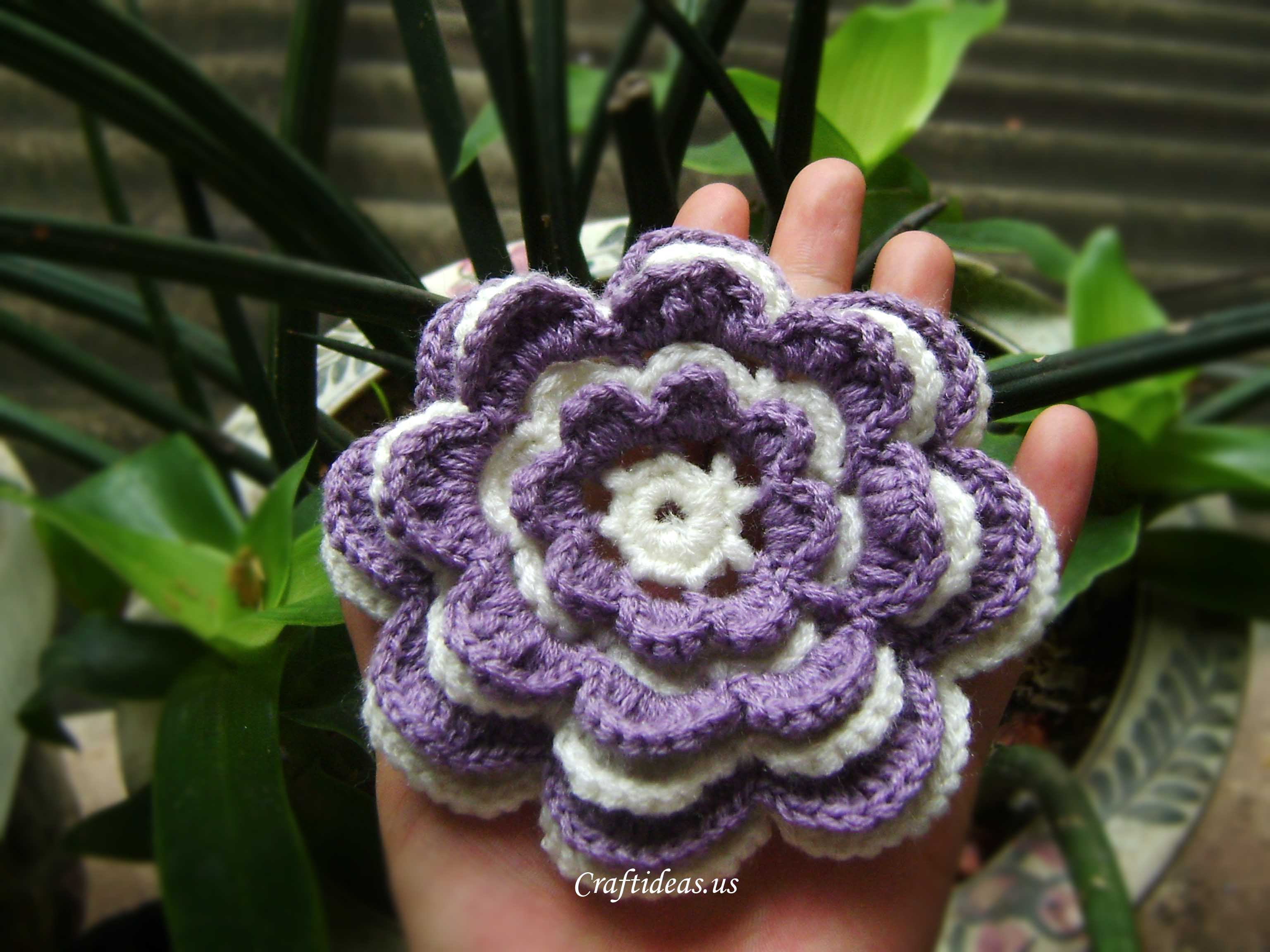 Crochet Flower Tutorial Craft Ideas