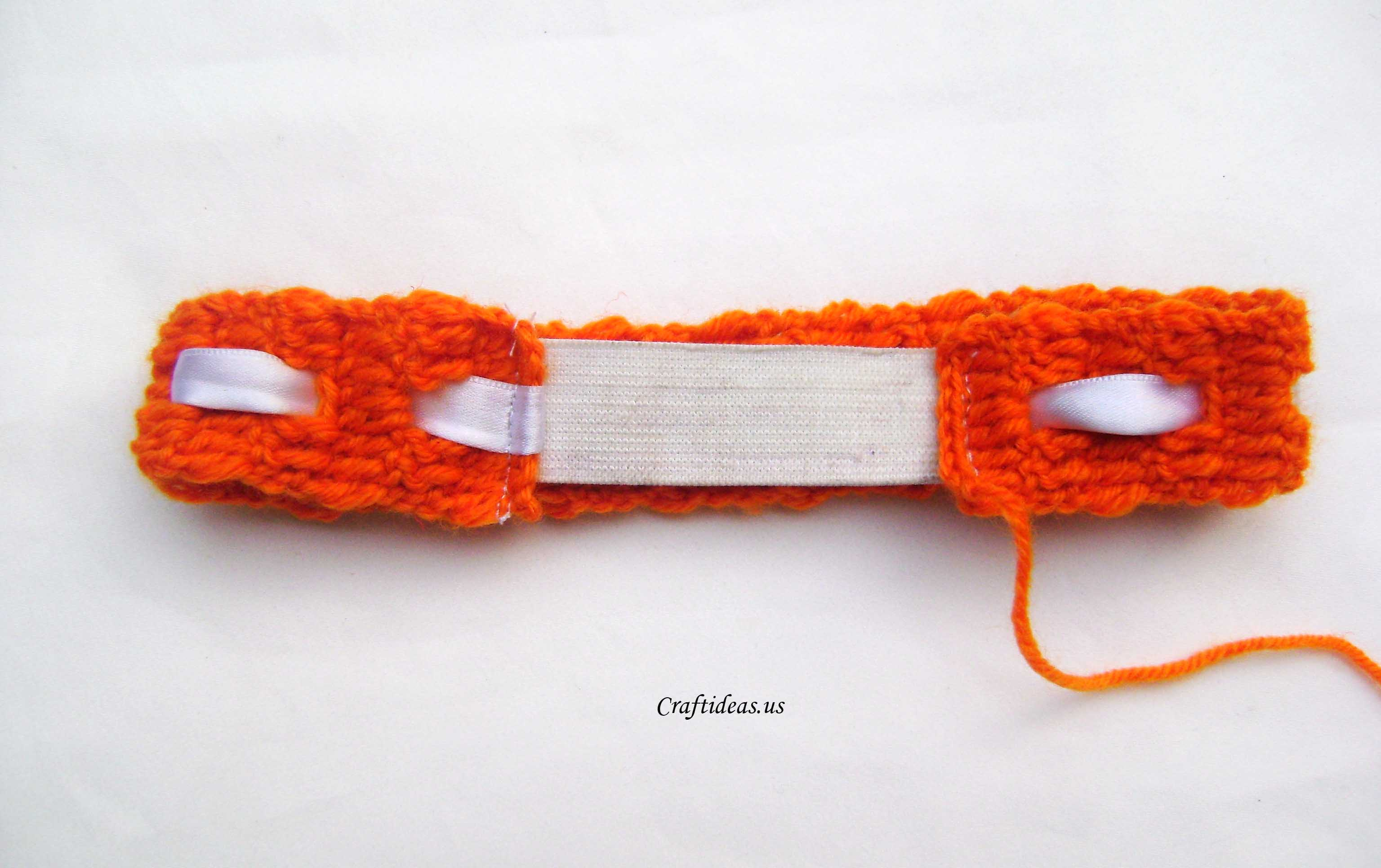 Crochet orange headband craft ideas crochet border baditri Image collections