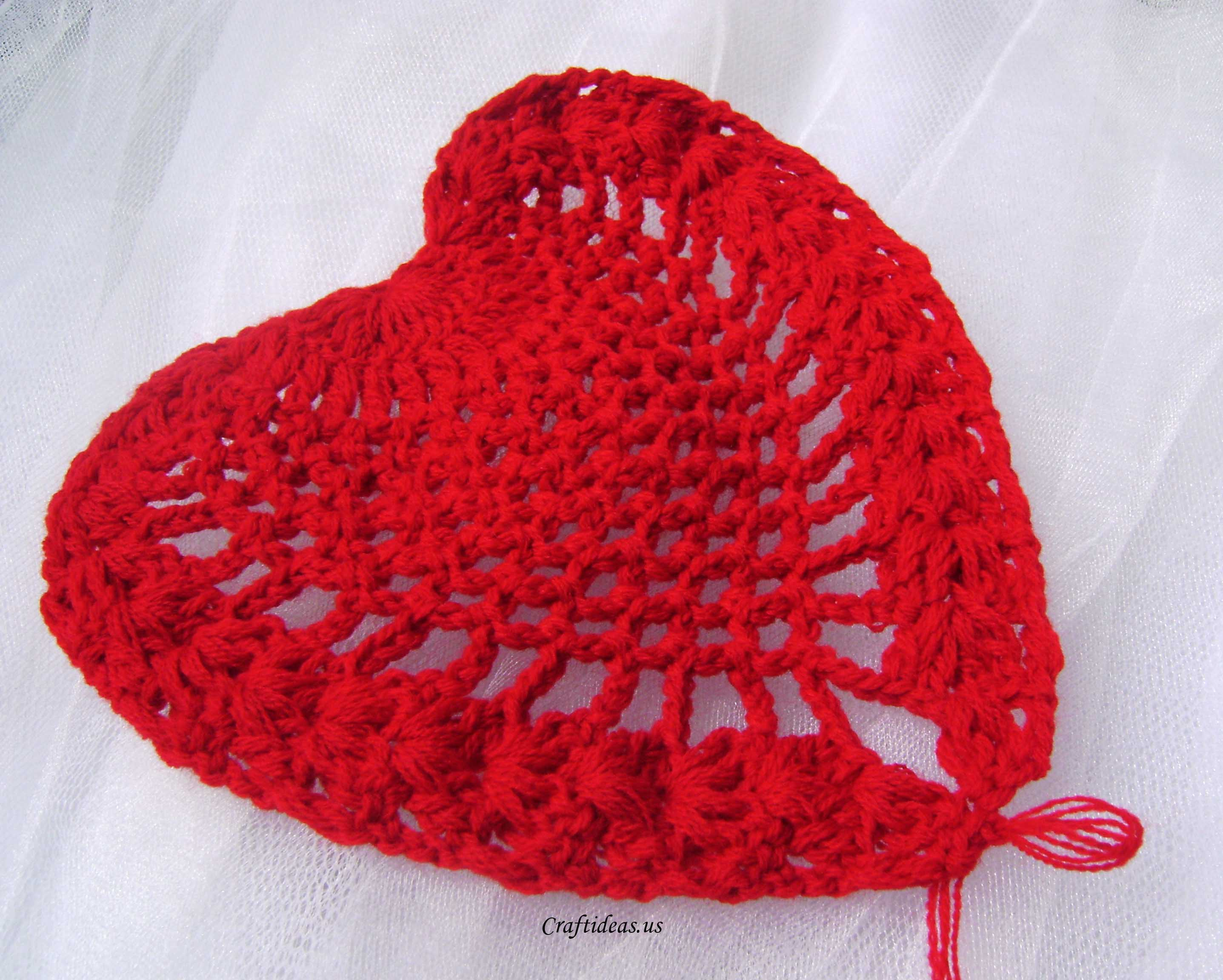 Valentine Craft Ideas: Crochet Heart Scarf And Heart Tablecloths