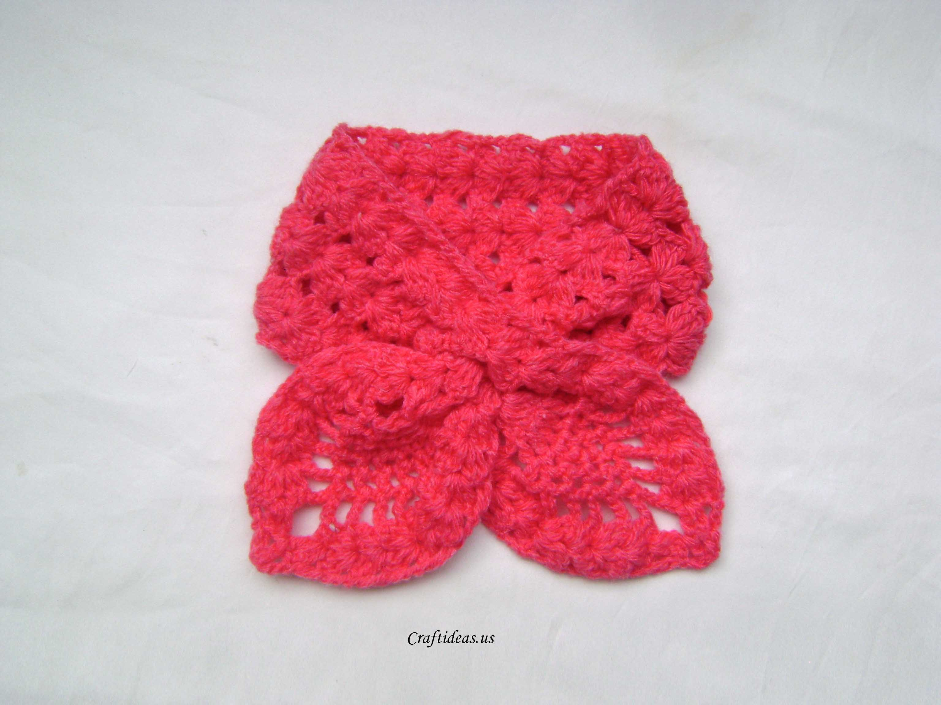 Crochet Tutorial : Crochet lotus scarf tutorial - Craft Ideas