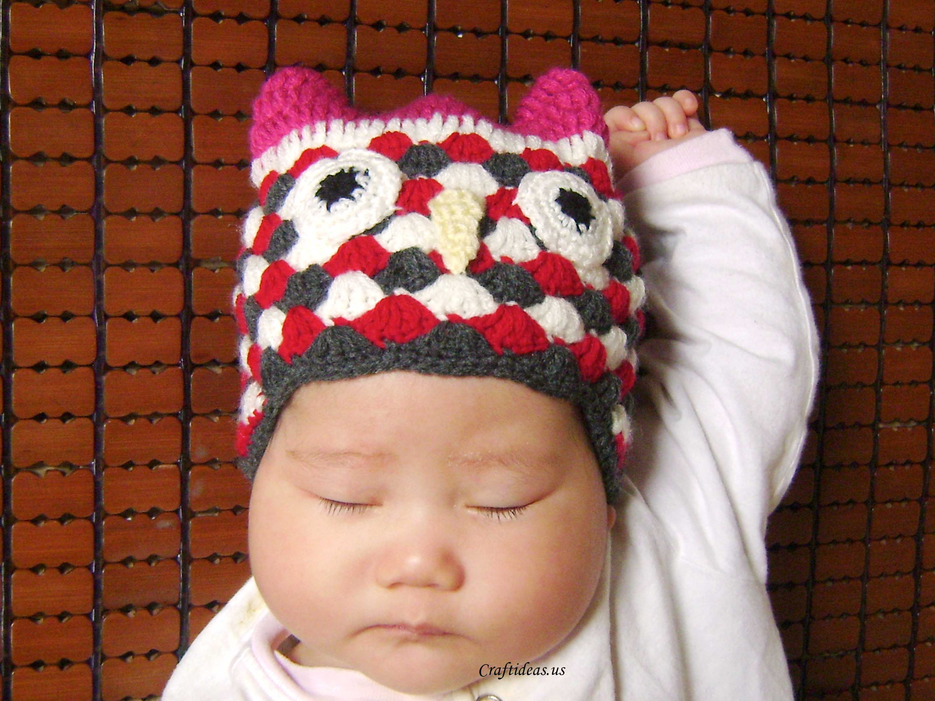 crochet owl hat for kids