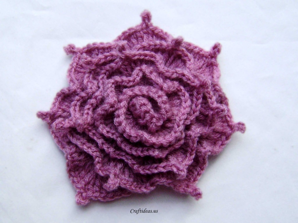 Crochet Patterns Of Roses : Crochet irish rose - Craft Ideas