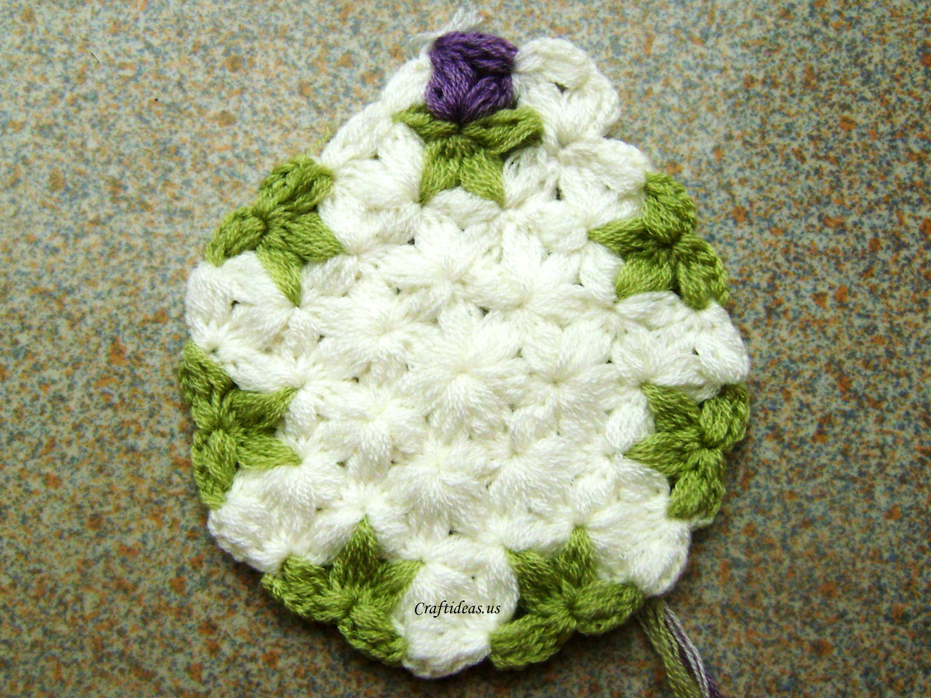 Crochet Jasmine Stitch In The Round : Round 6 and round 7: crochet repeat round 4 and round 5.