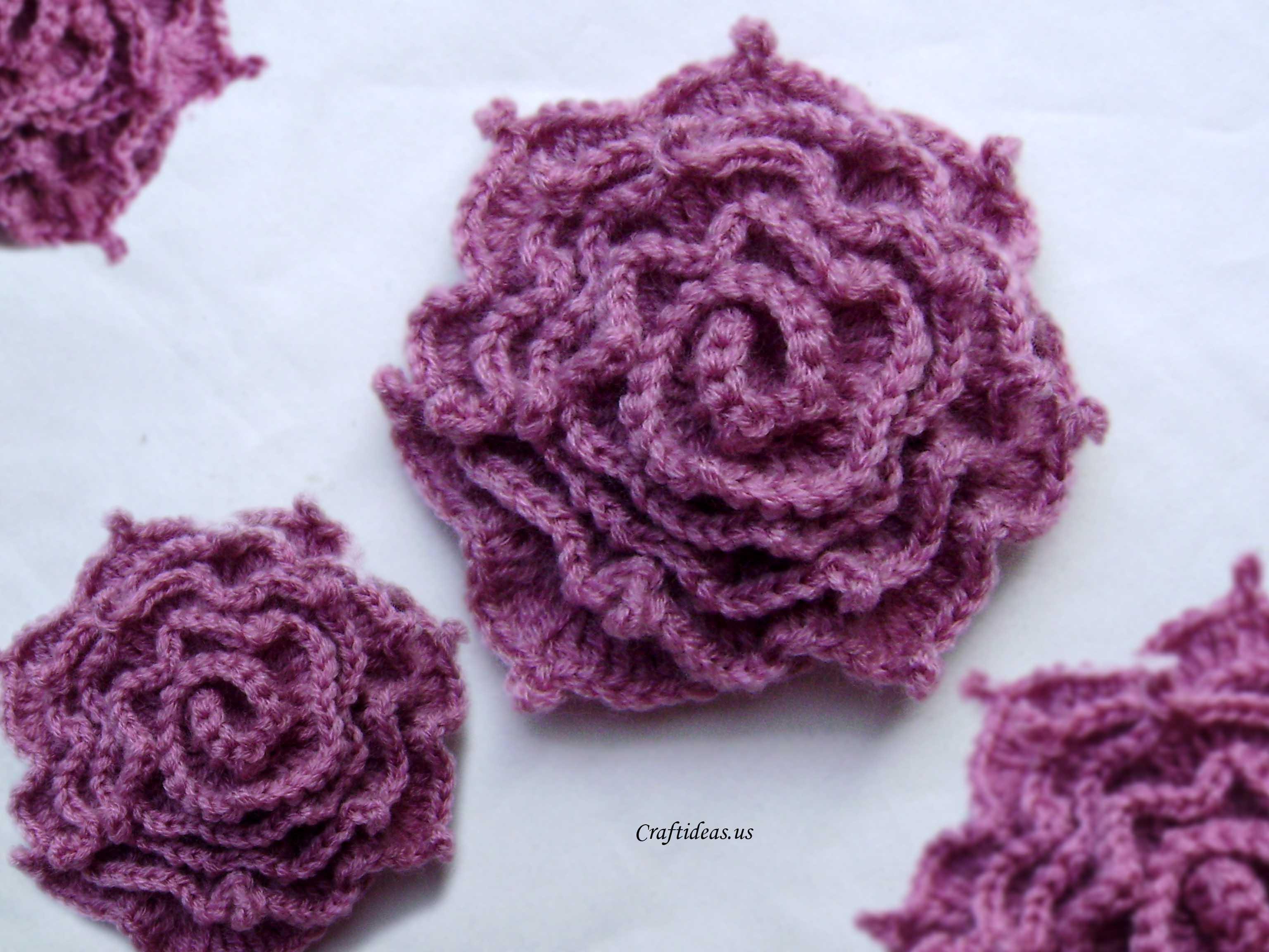 Crochet Irish Rose Craft Ideas