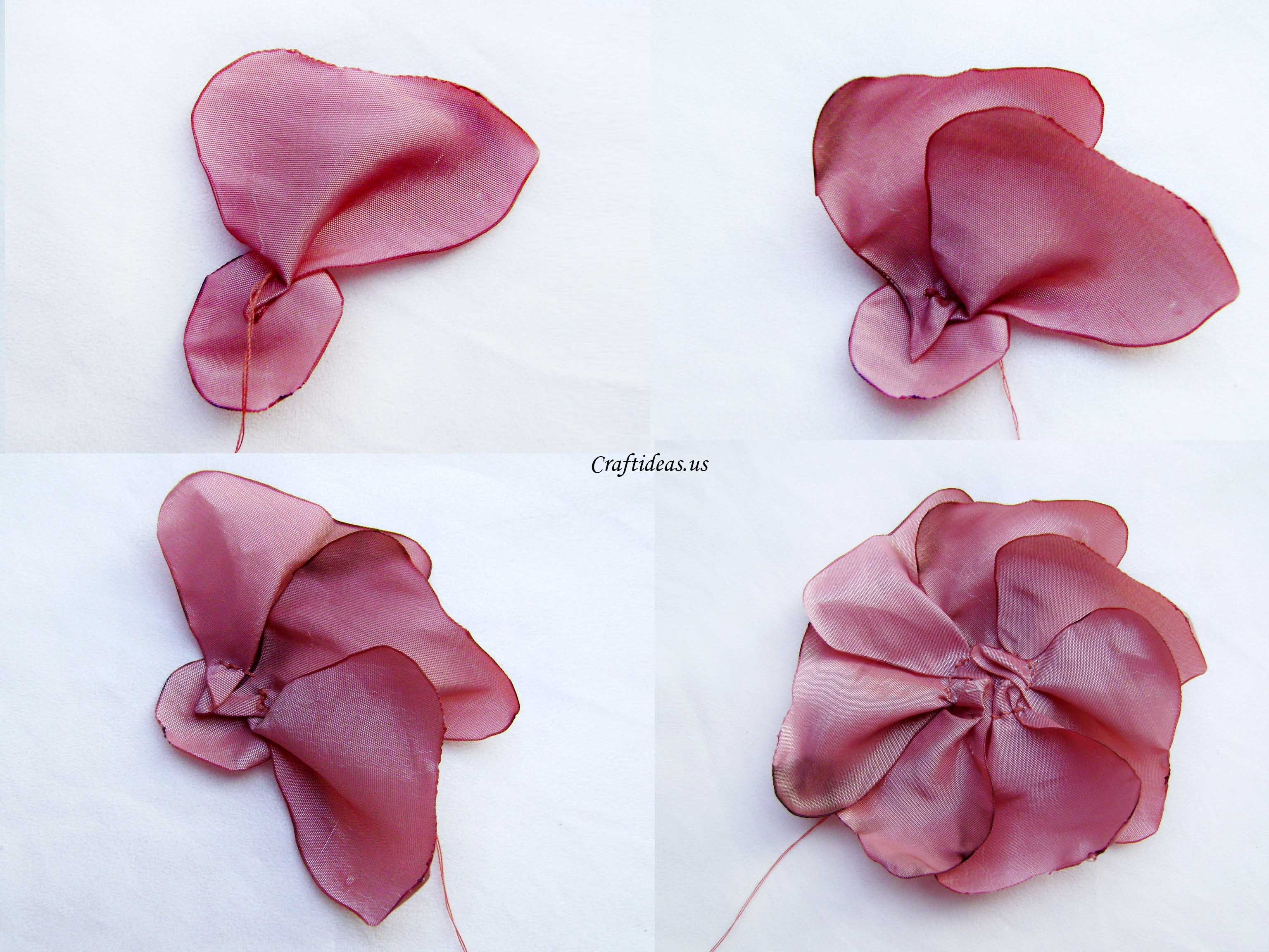 Making Fabric flower Craft Ideas