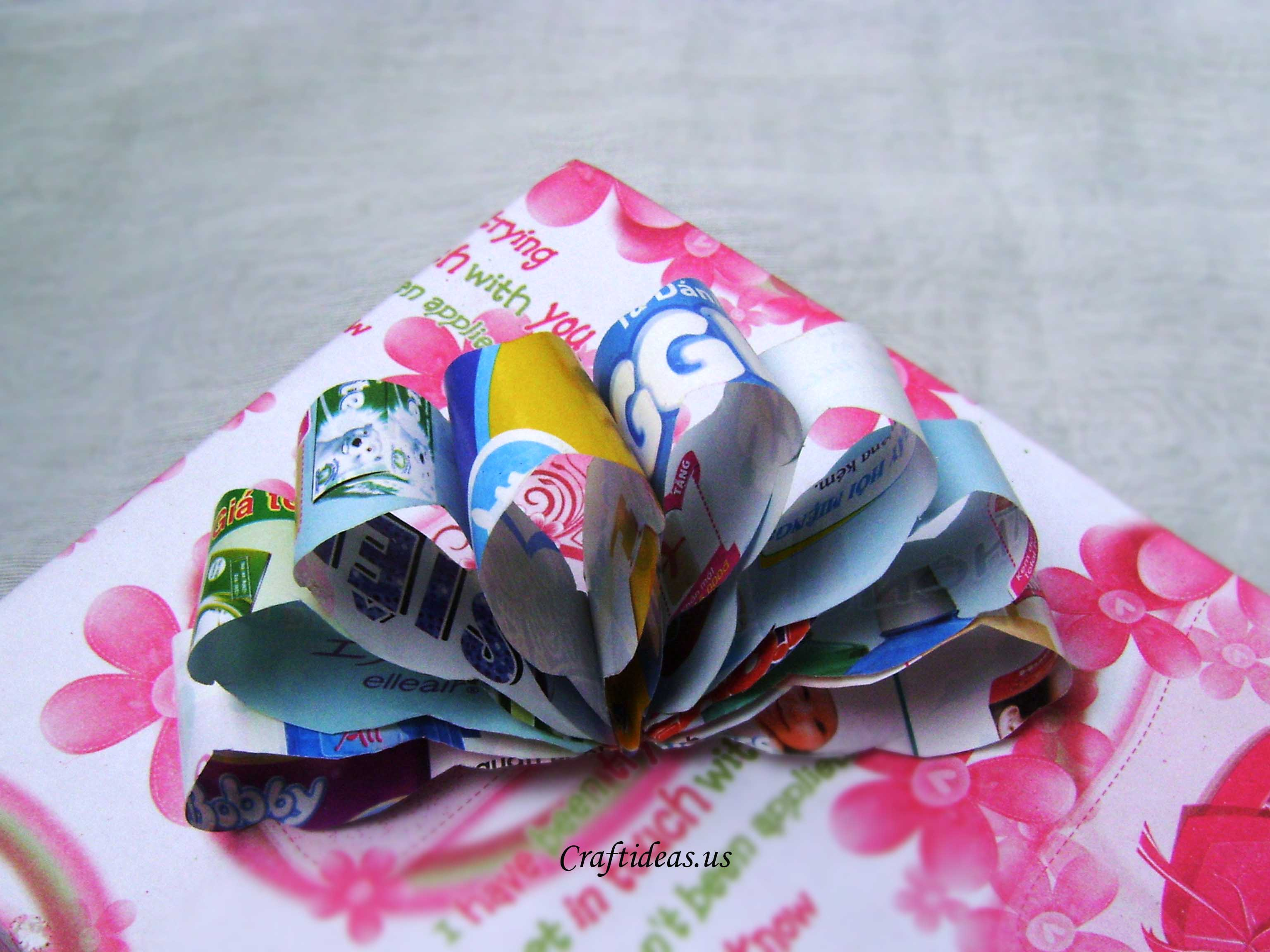 Recycling Paper Paper Flower Bow Craft Ideas