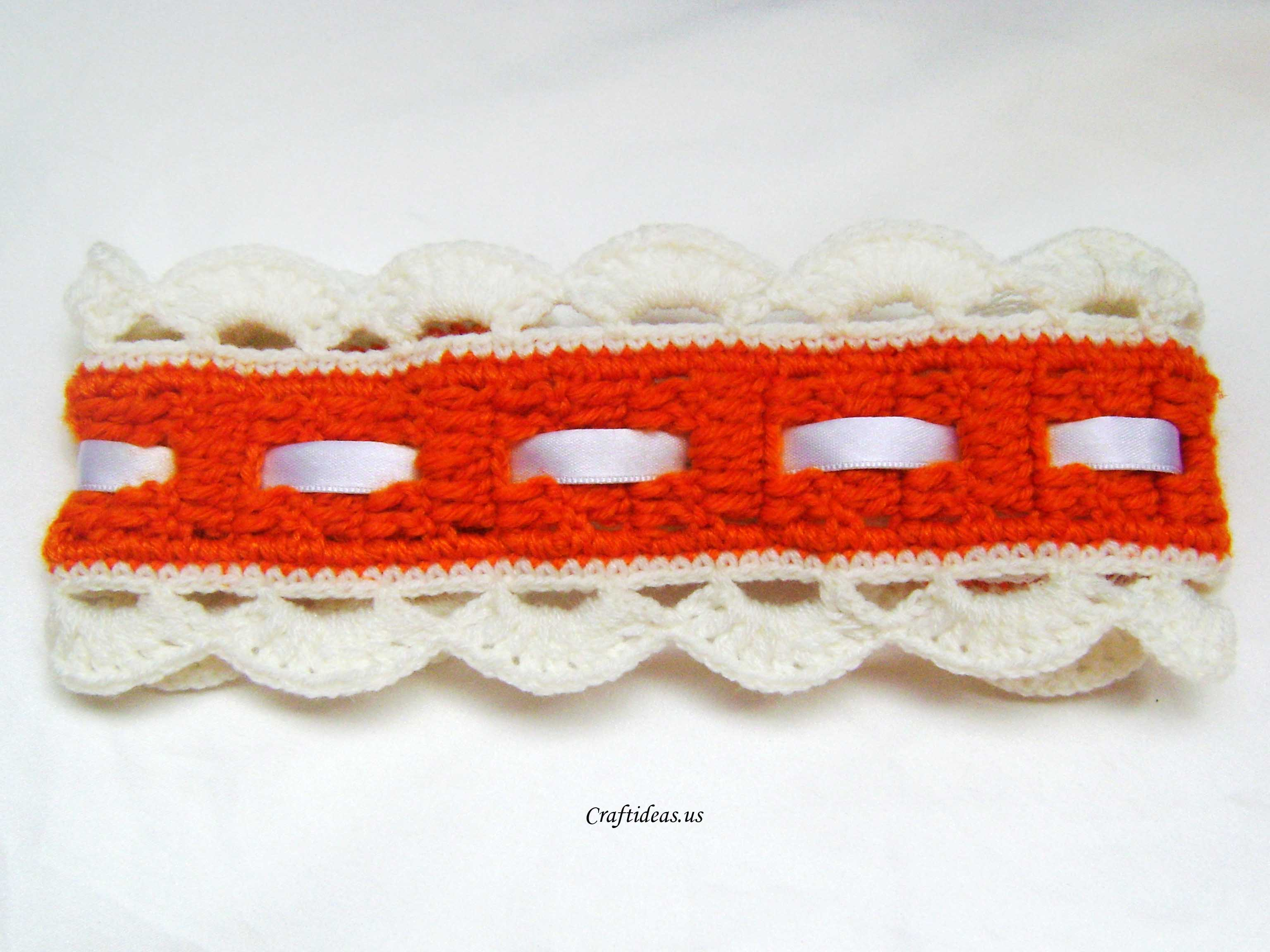 Crochet orange headband craft ideas crochet orange headband baditri Image collections