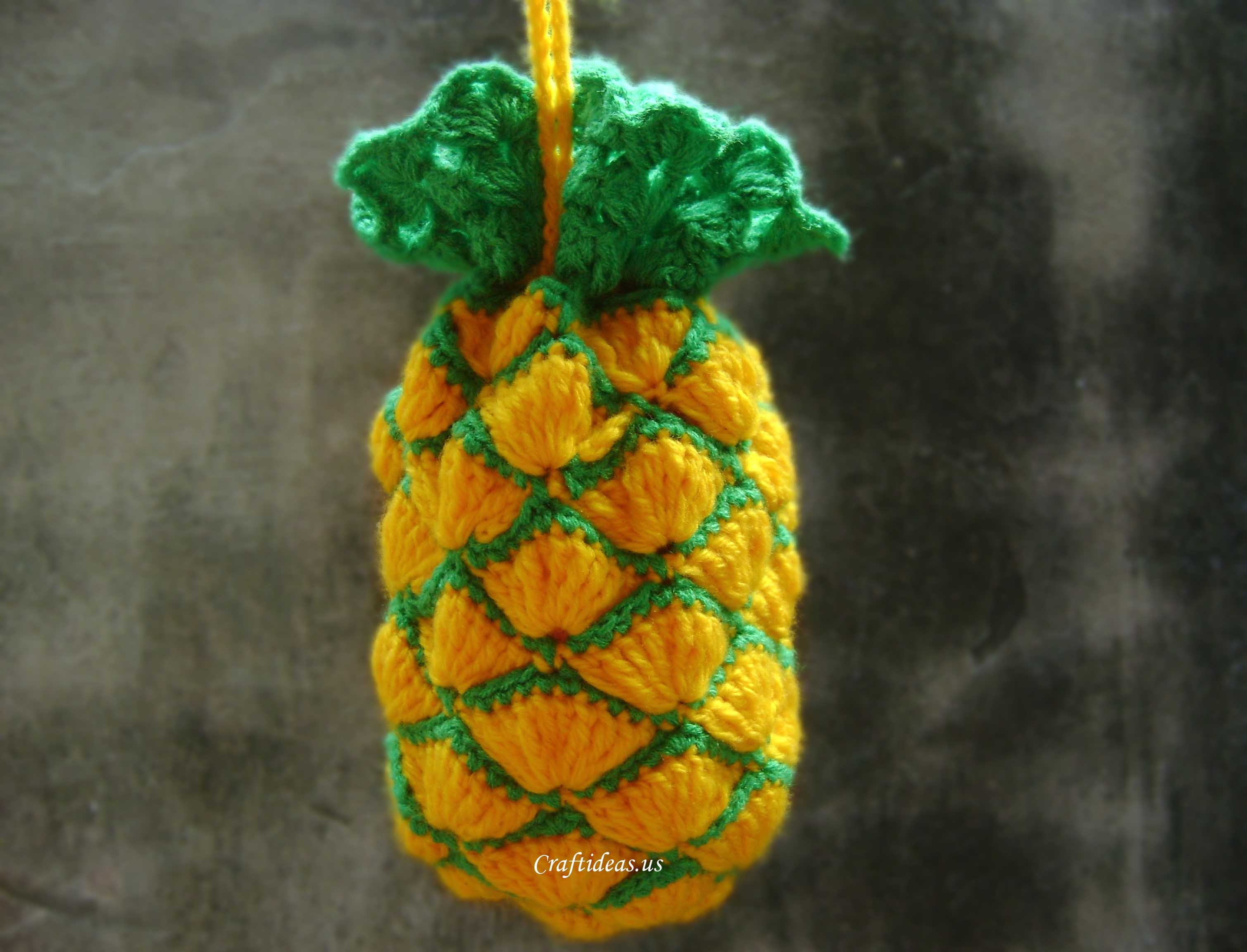 Crochet Bag For Kids : Crochet pineapple bag for kids.