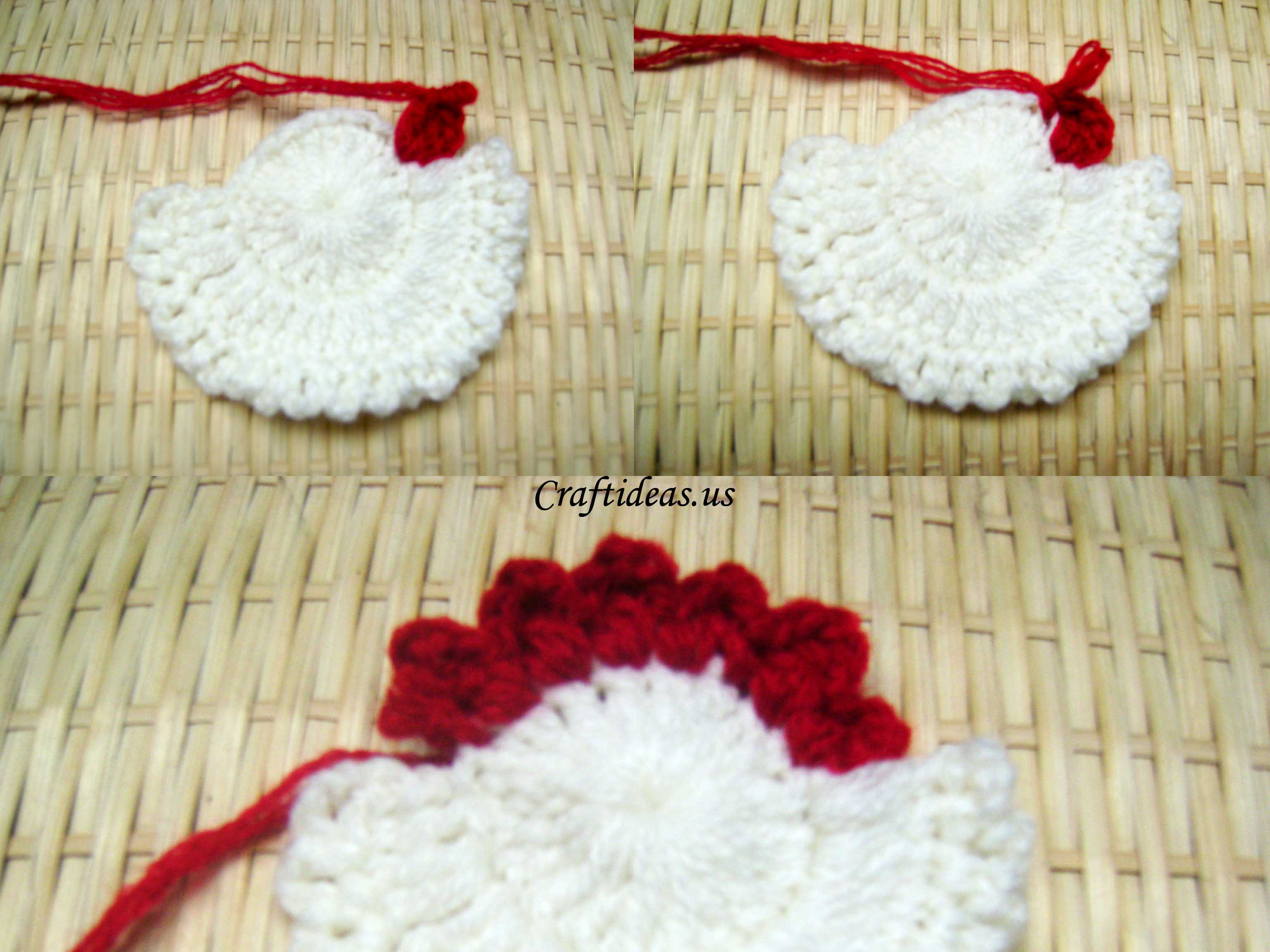 Christmas crafts ideas crochet santa claus craft ideas round bankloansurffo Image collections