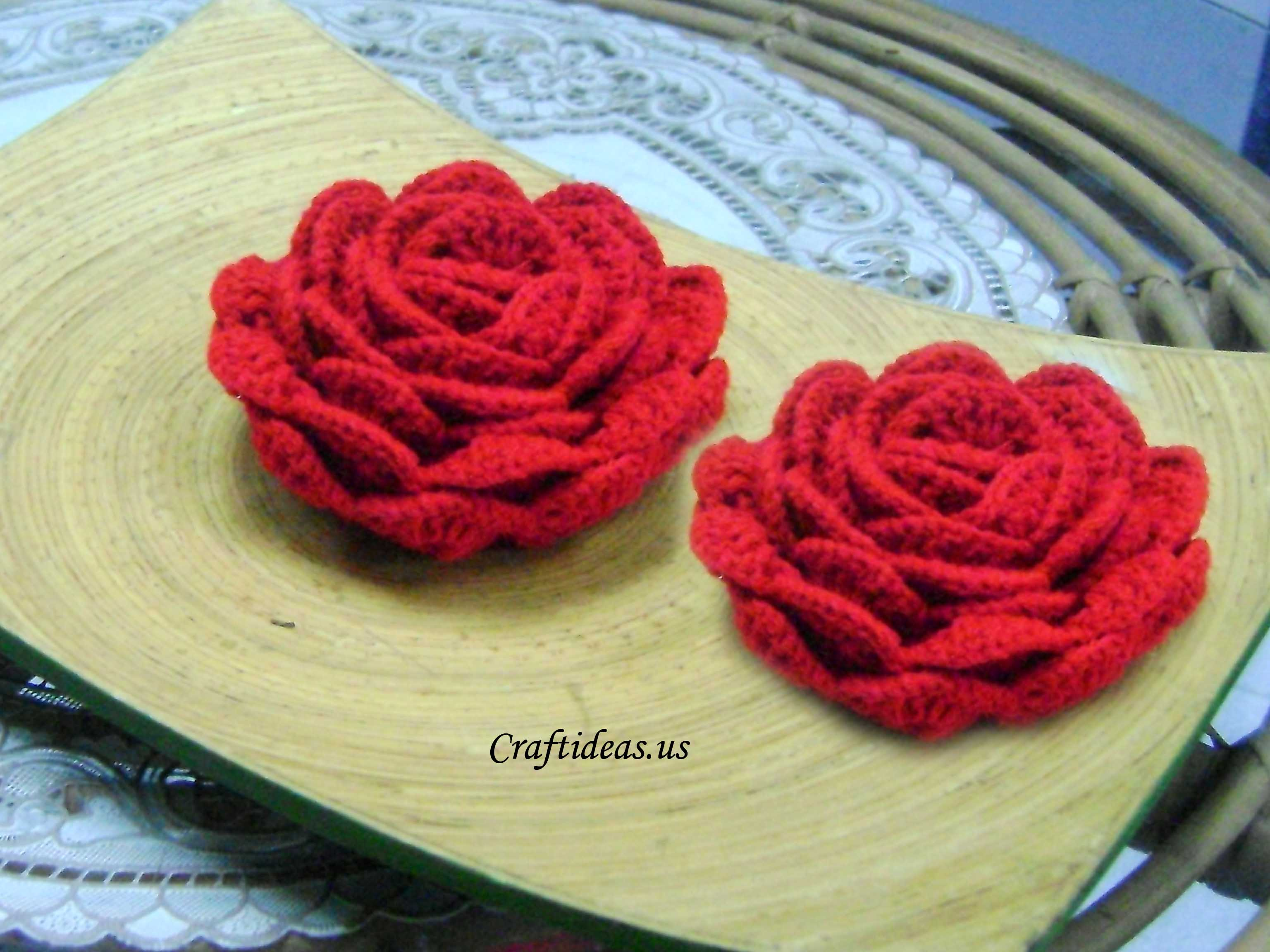 Crocheting Tutorials : Crochet flower tutorial - Craft Ideas