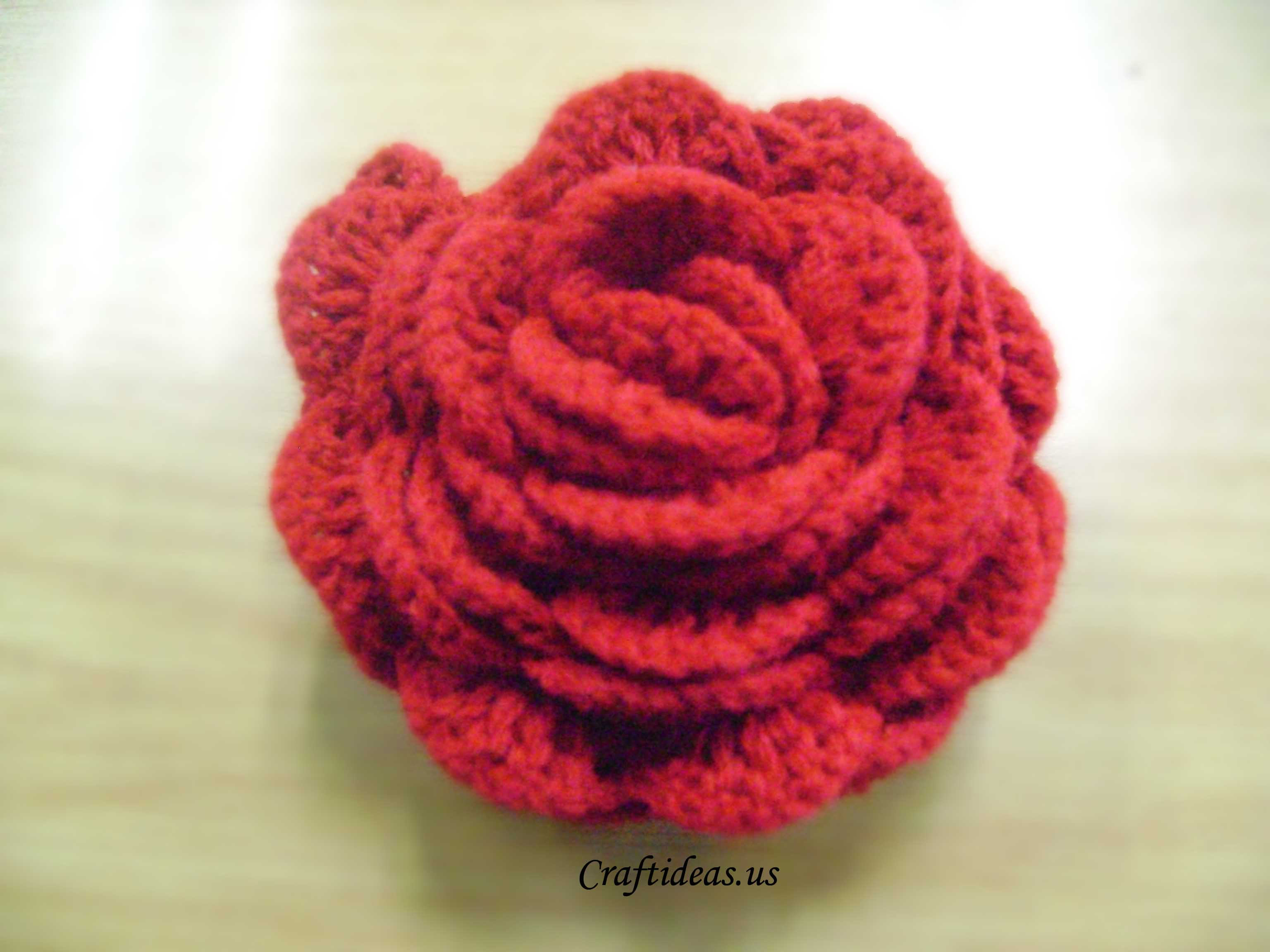 Crocheting Roses : crochet rose