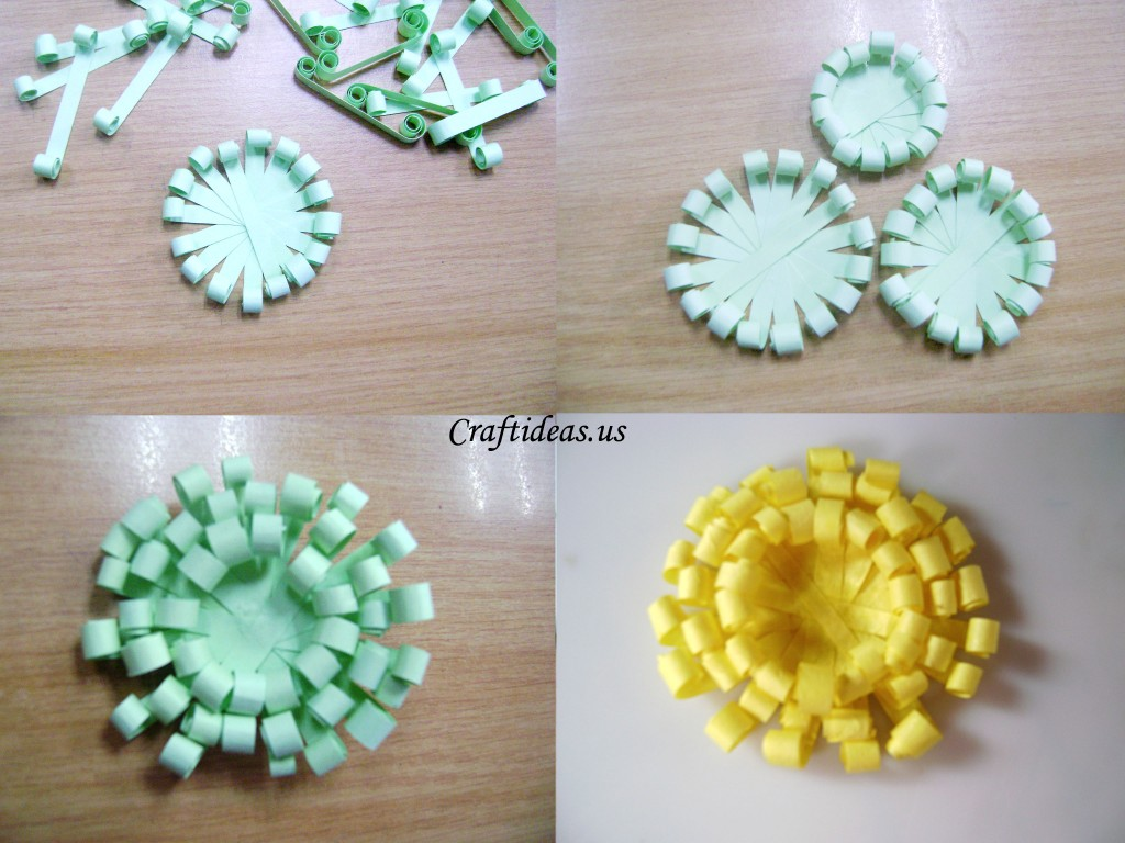 Paper crafts paper chrysanthemums craft ideas for Craft made by paper