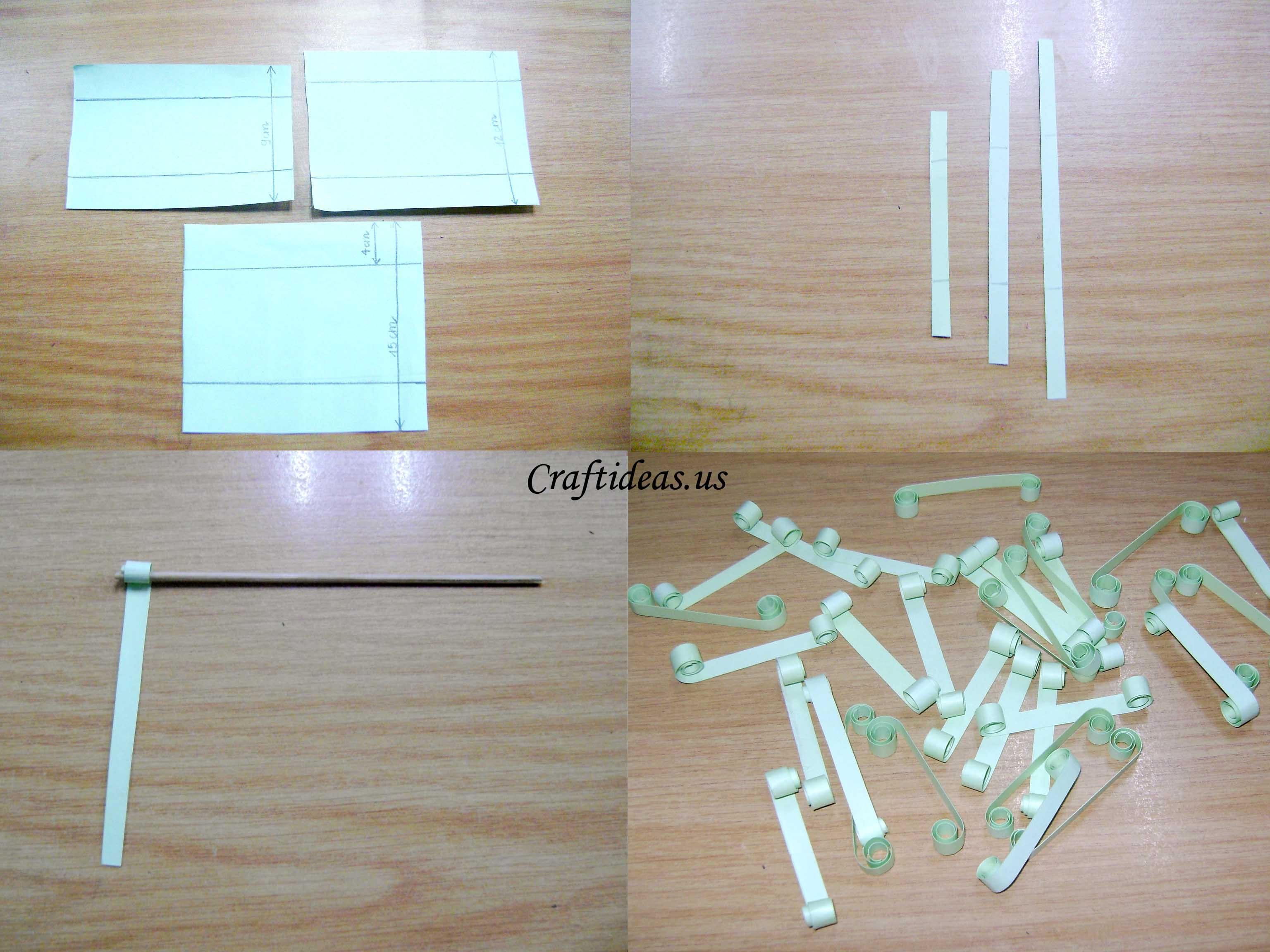 How To Make A Flower With Paper Strips Selol Ink