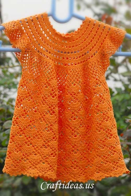 free crochet girls dress pattern