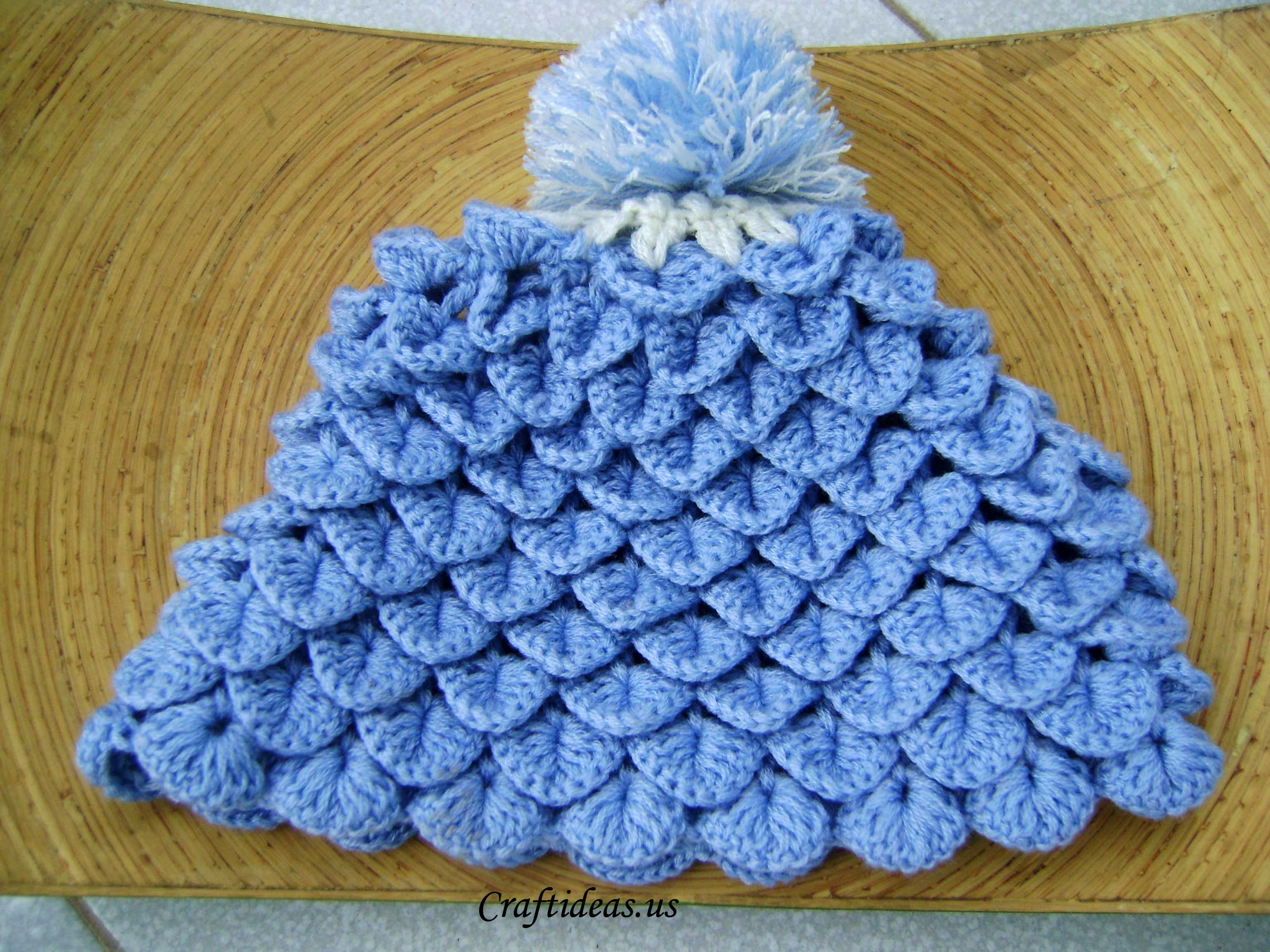 Crochet Craft Projects : Crochet hat for kids: crochet crocodile hat - Craft Ideas