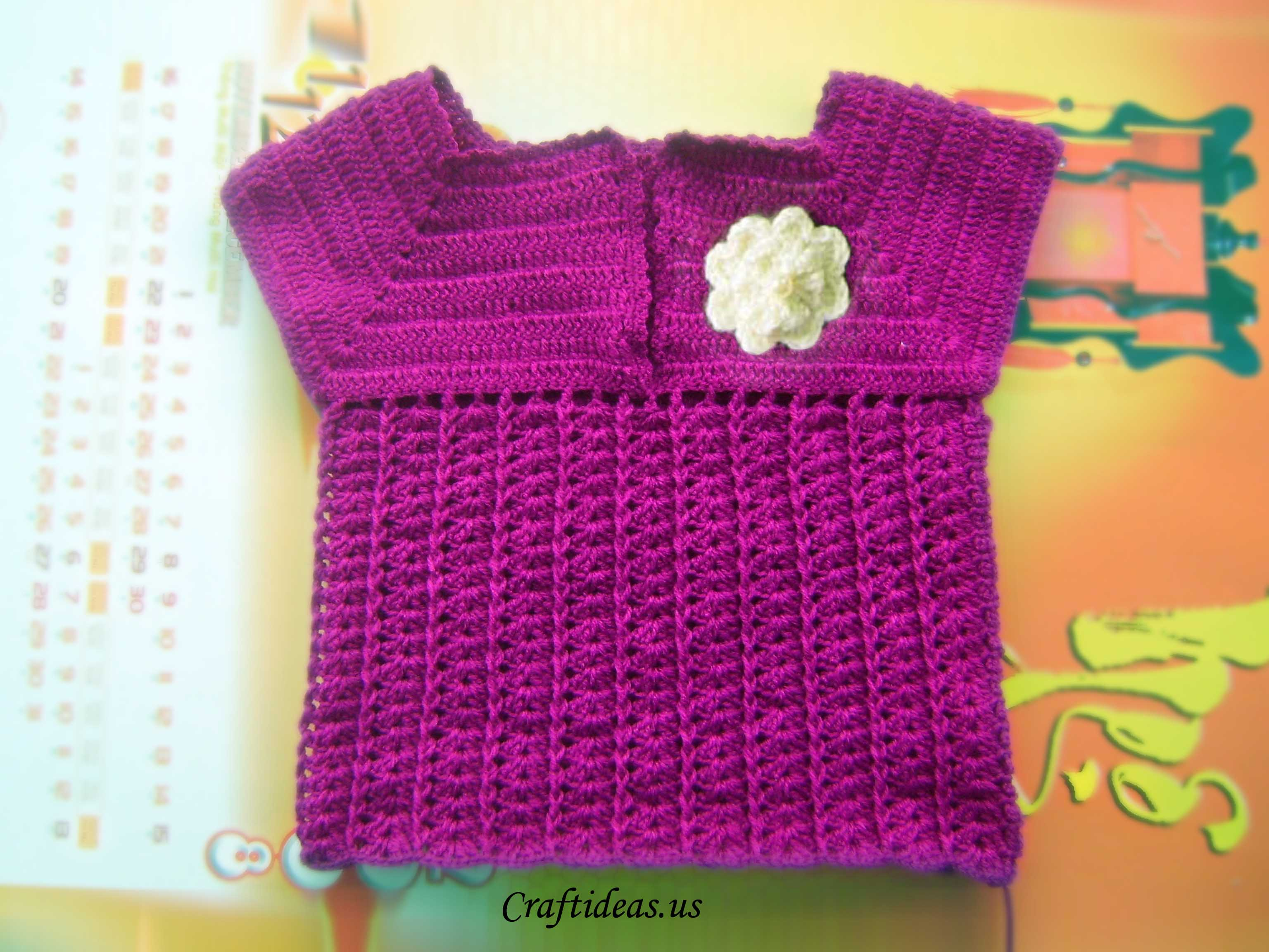 Crochet sweater for 2 year old girl craft ideas for Crochet crafts for kids