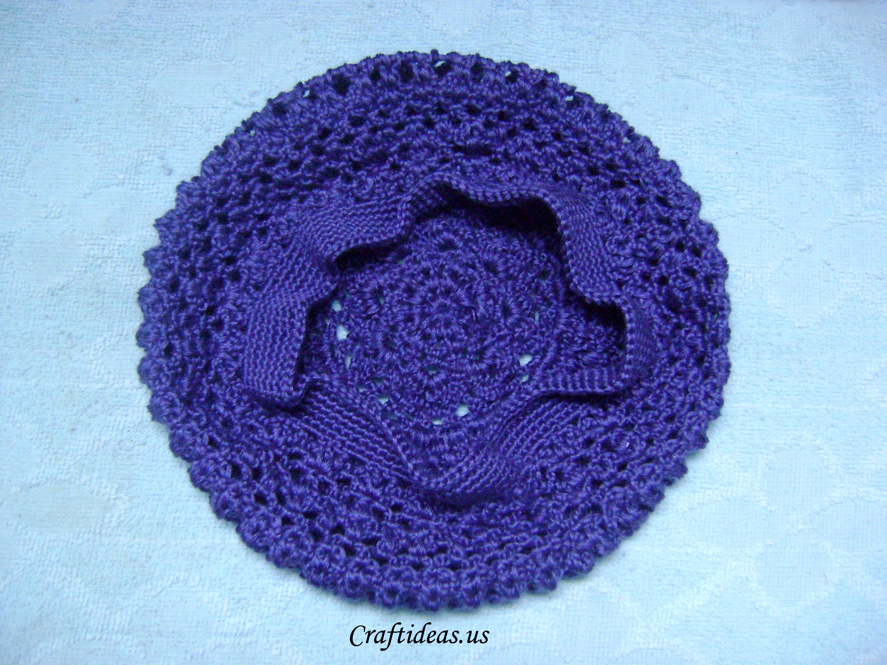 Crochet beret for girls - Craft Ideas