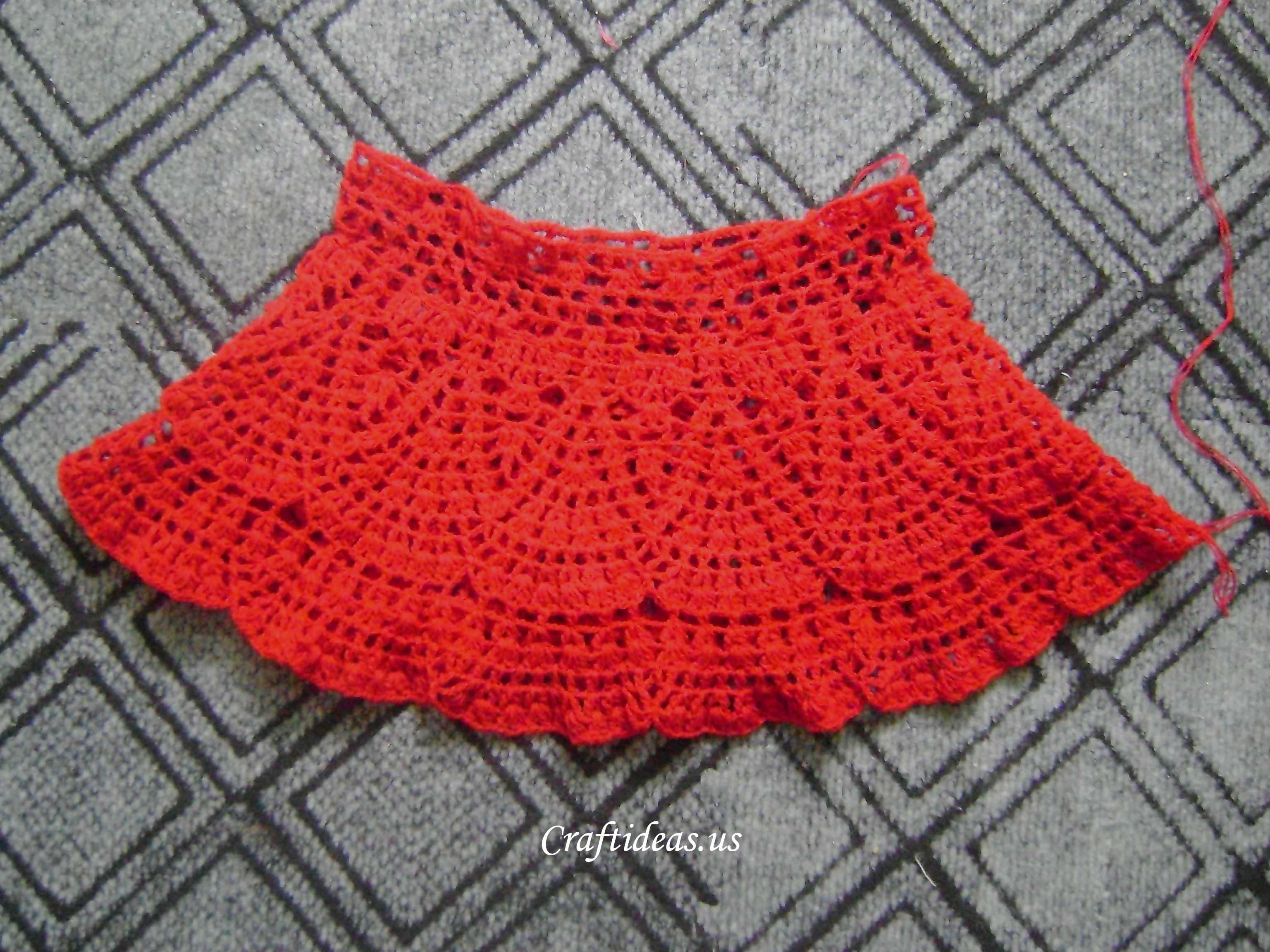 Free Crochet Pattern Child Skirt : Crochet beauty skirt for little girl - Craft Ideas
