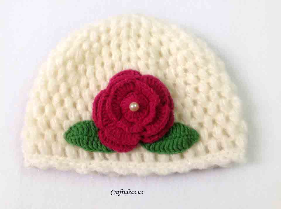 Crochet Tutorial Hat : Crochet cute spring hat for kids - Craft Ideas