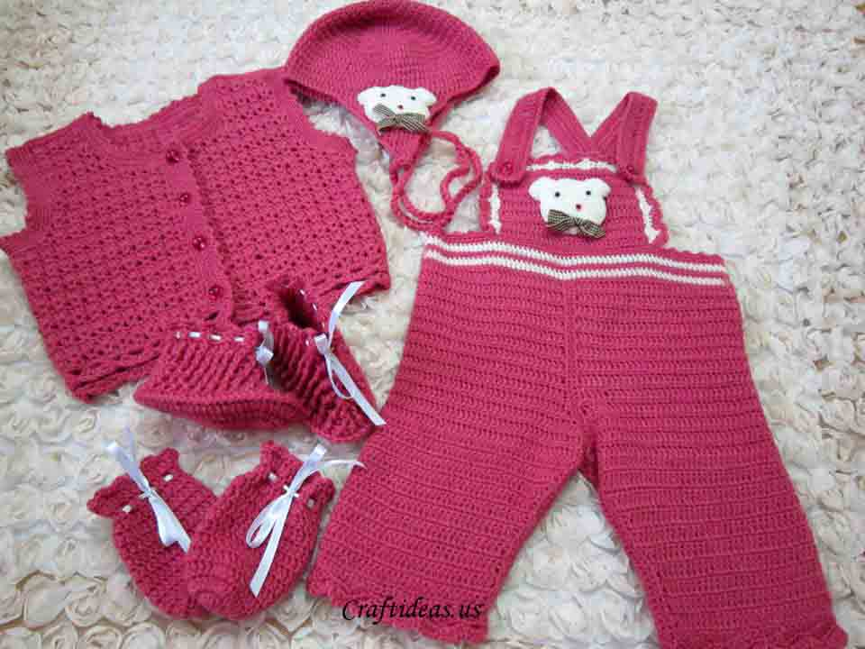 Crochet Pattern For Owl Baby Bunting : Cute crochet baby overalls - Craft Ideas