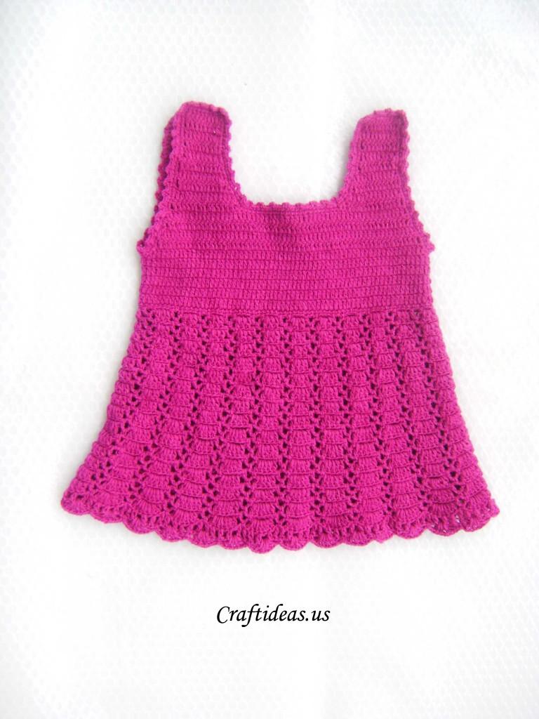 Crochet cute baby dress tutorial Craft Ideas