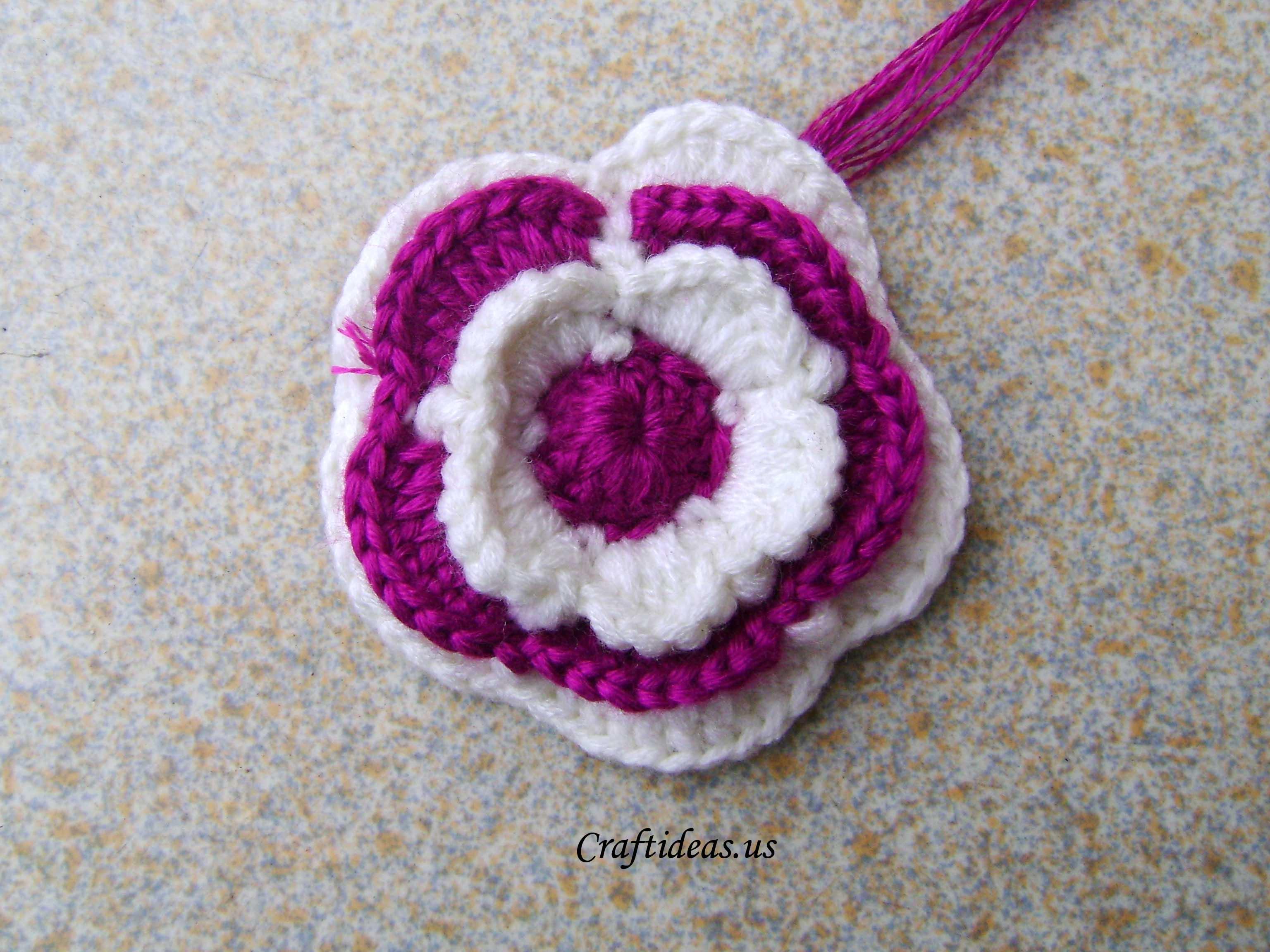 Crochet Crafts : Crochet spring flower - Craft Ideas