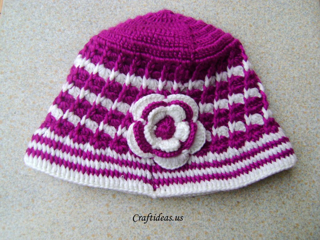 Crochet Tutorial Hat : Crochet spring hat for ladies - Craft Ideas