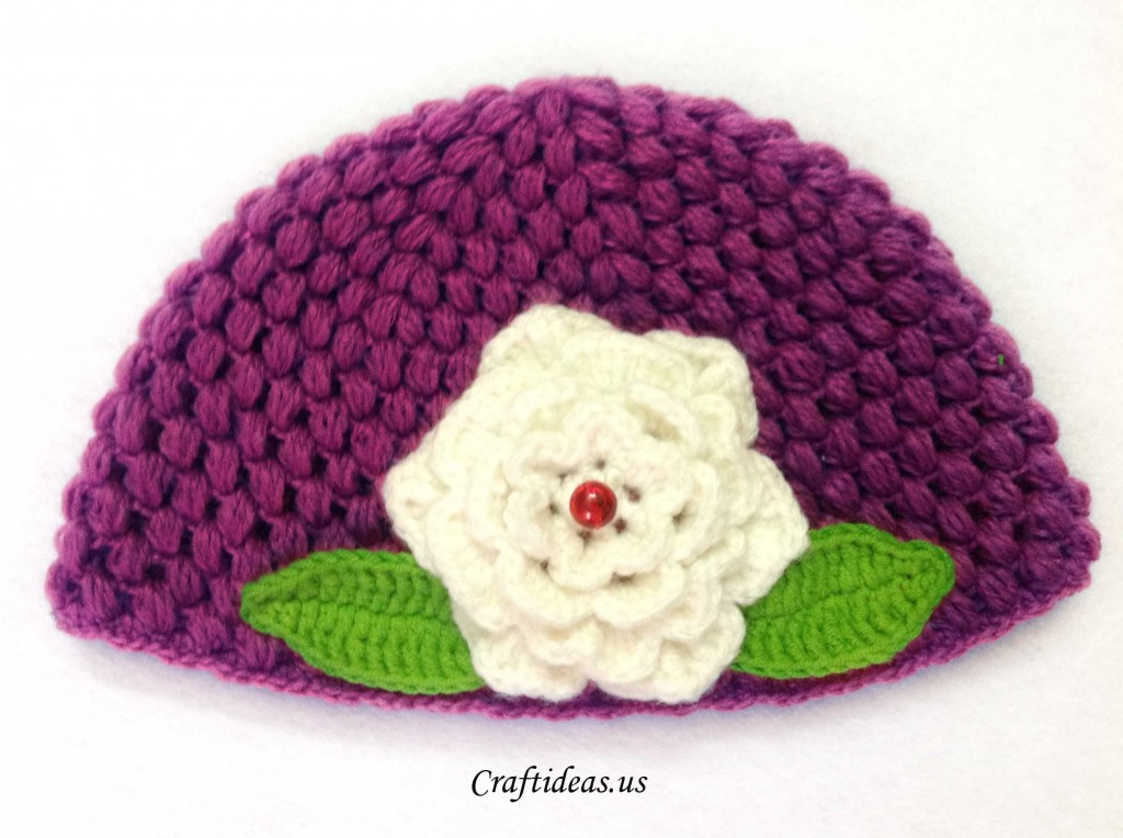 Crochet Stitches Crochet Popcorn Stitch : Crochet cute spring hat for kids - Craft Ideas