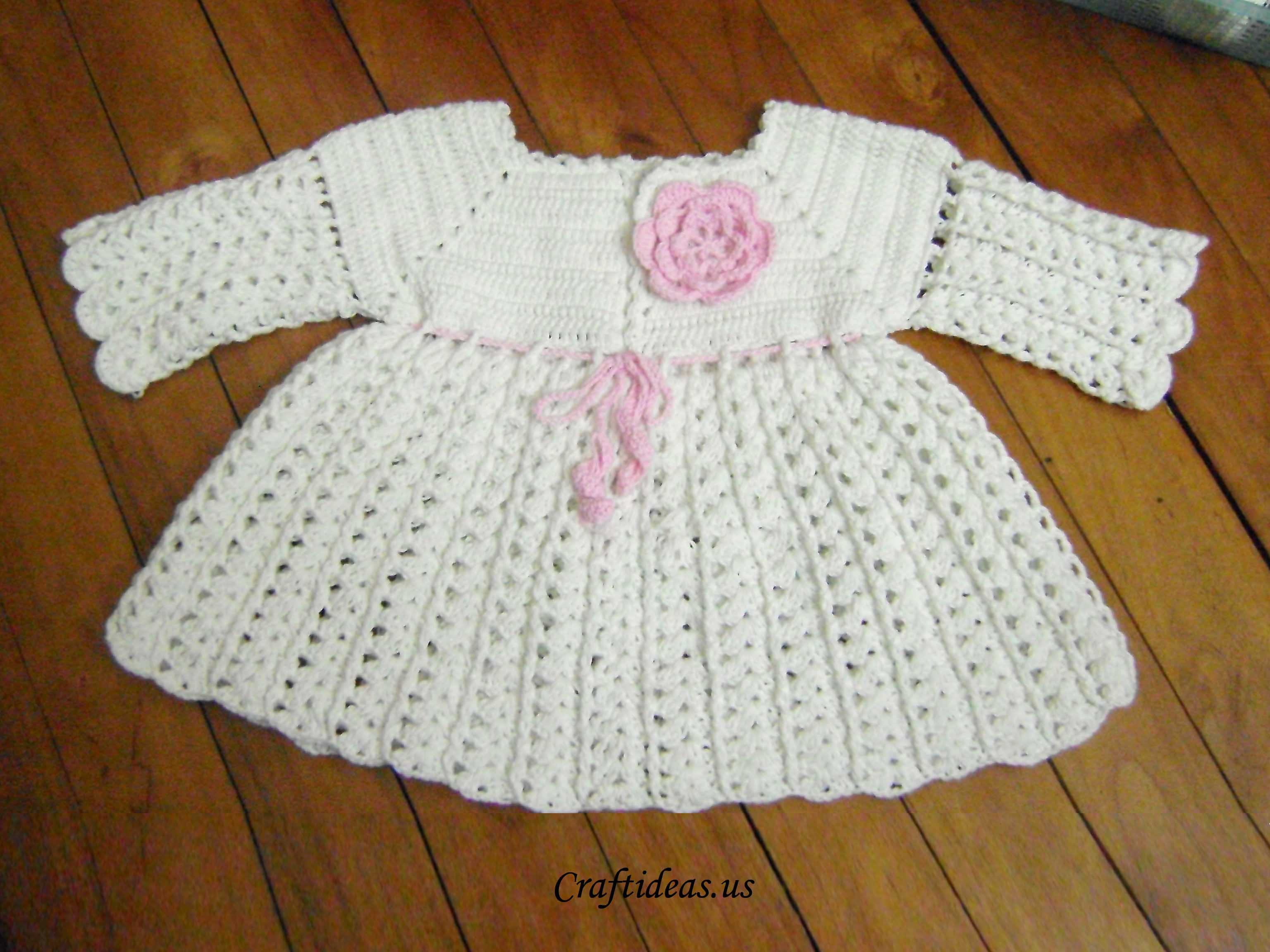 Crochet dress for little girls (long sleeves) Craft Ideas Crafts ...