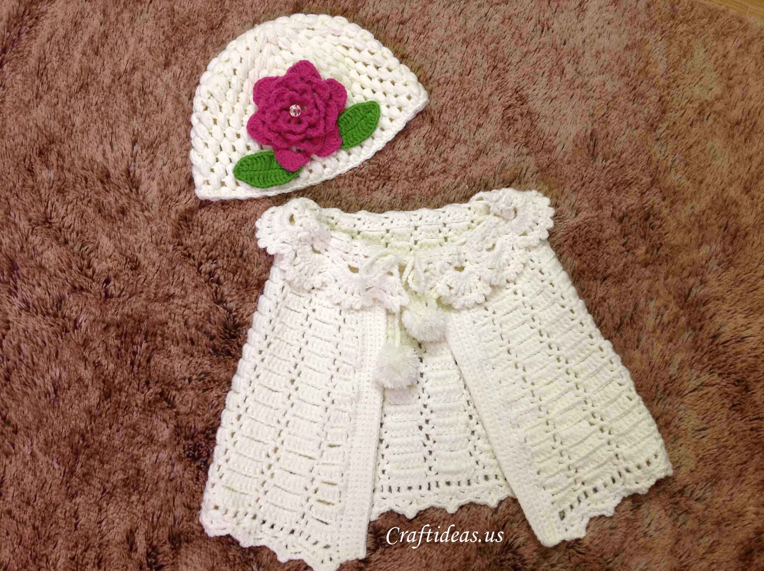 Crochet spring poncho for little girls craft ideas for Crochet crafts for kids