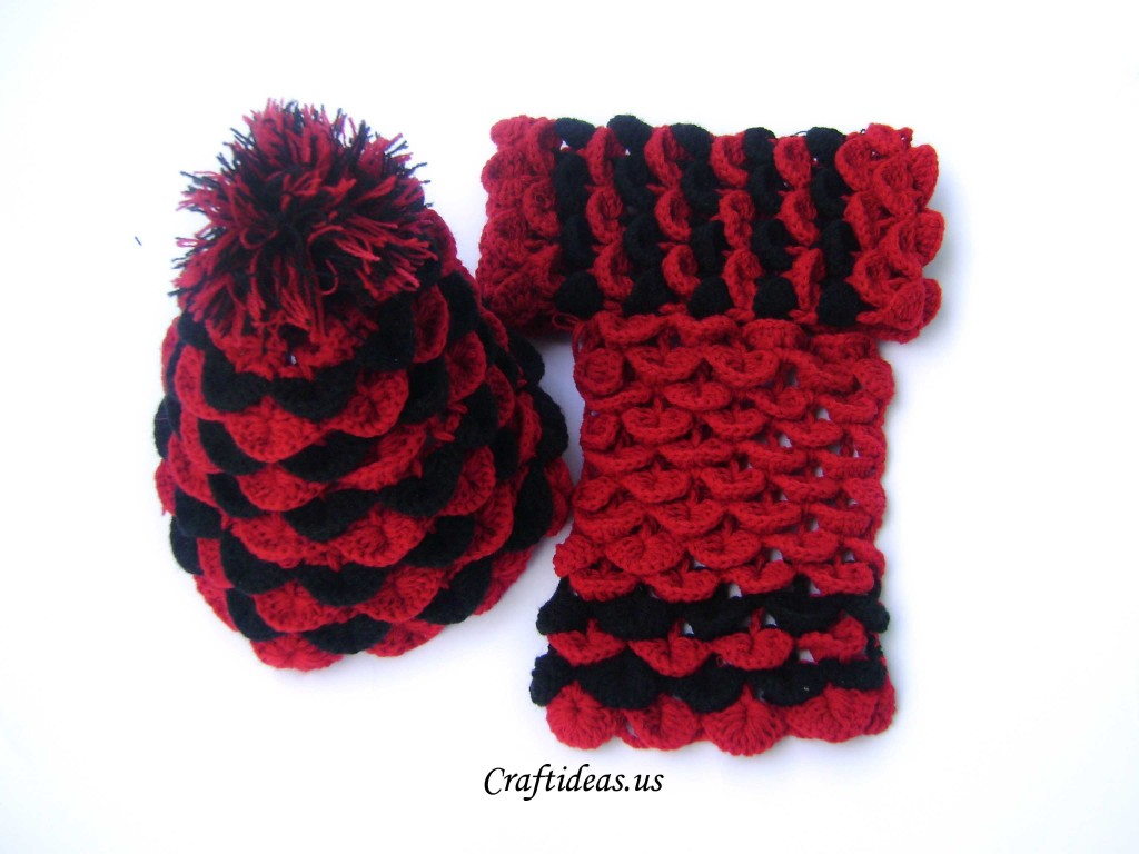 Crochet Crocodile Hat And Scarf For Kids Craft Ideas