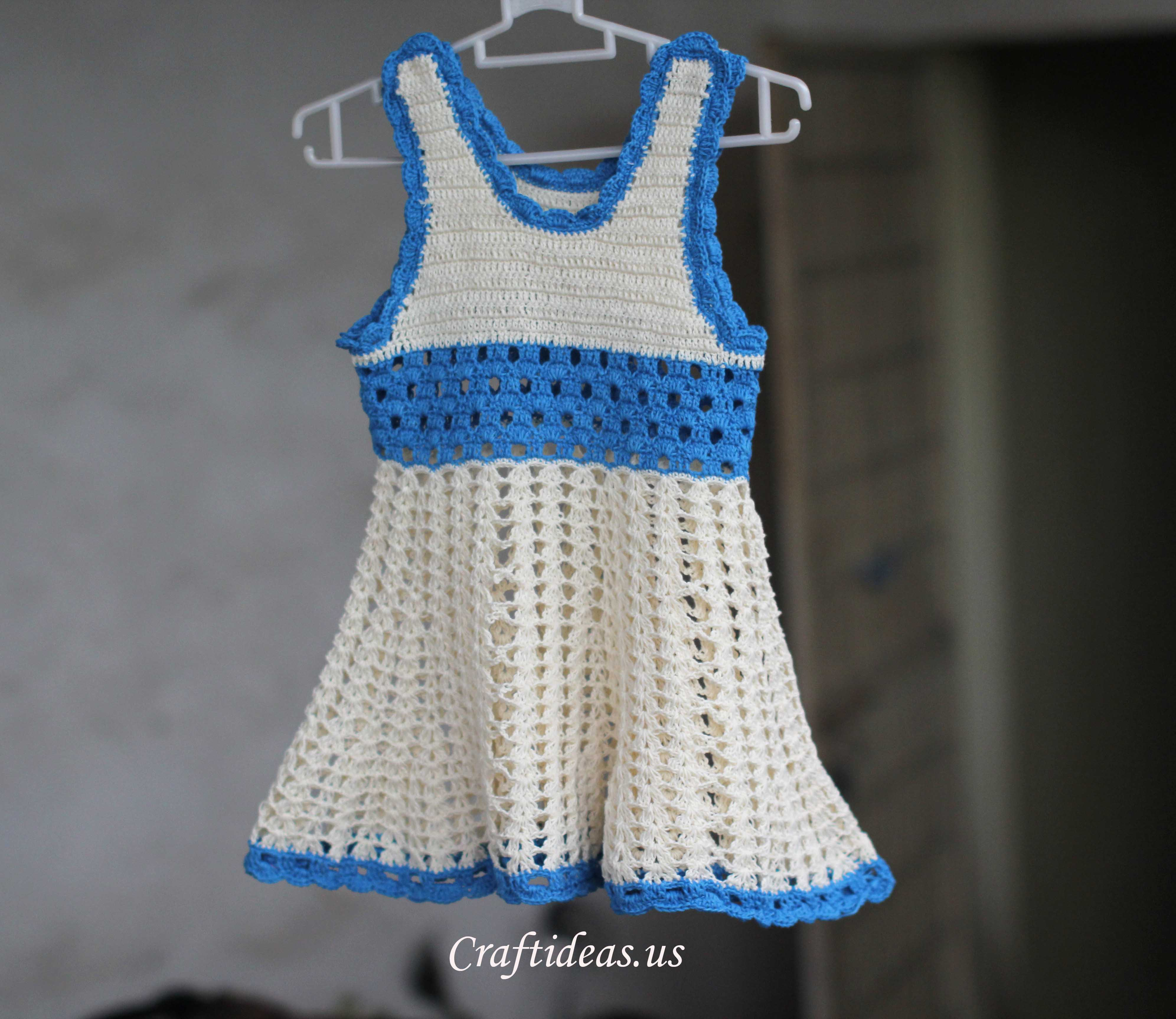Crochet dress for baby girls 2 - 2.5 years old - Craft Ideas