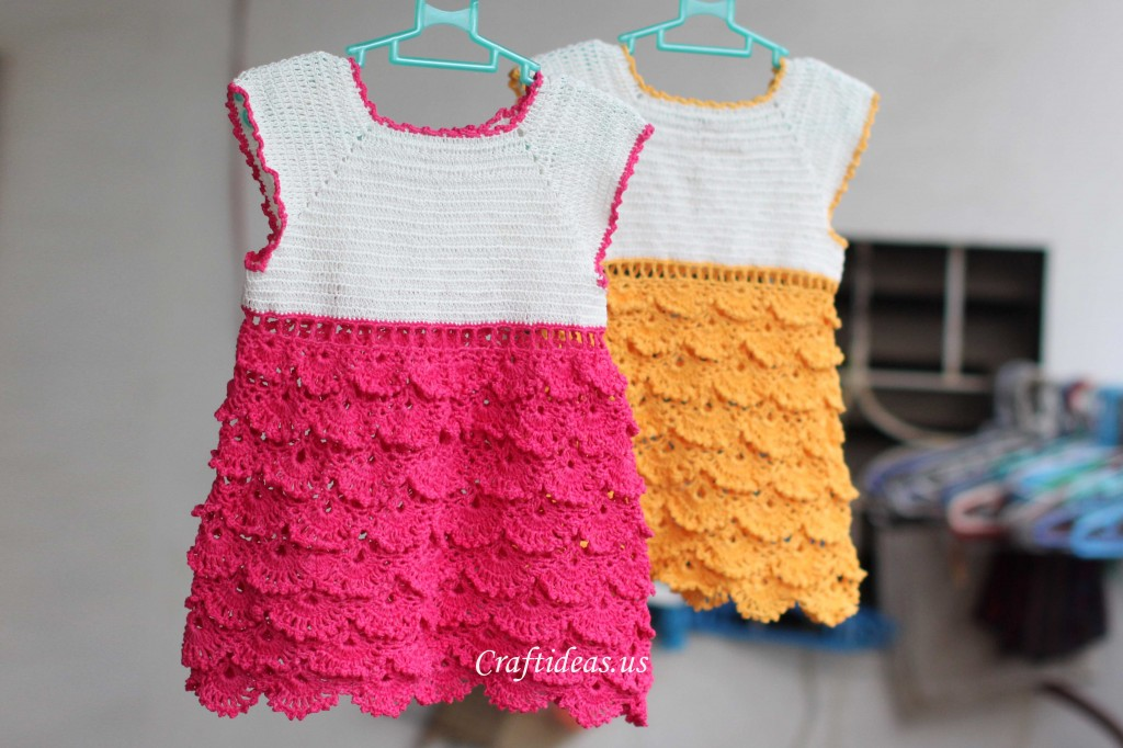 Crochet Patterns Little Girl Dresses : Crochet charming dress for little girls - Craft Ideas