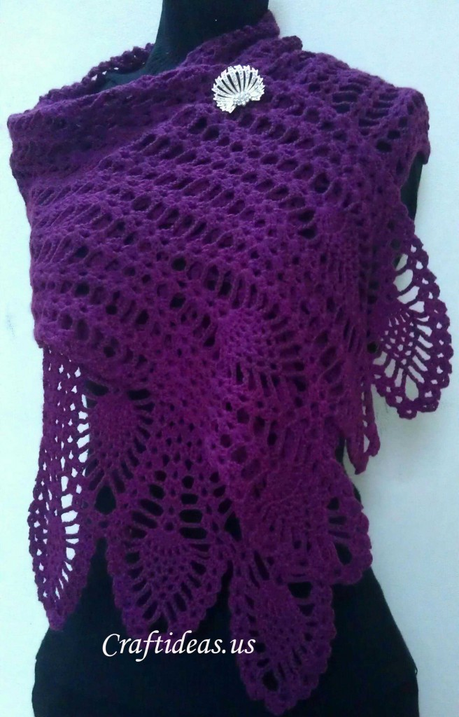 Crochet Patterns For Ladies Shawls : Crochet scarf for ladies - Craft Ideas