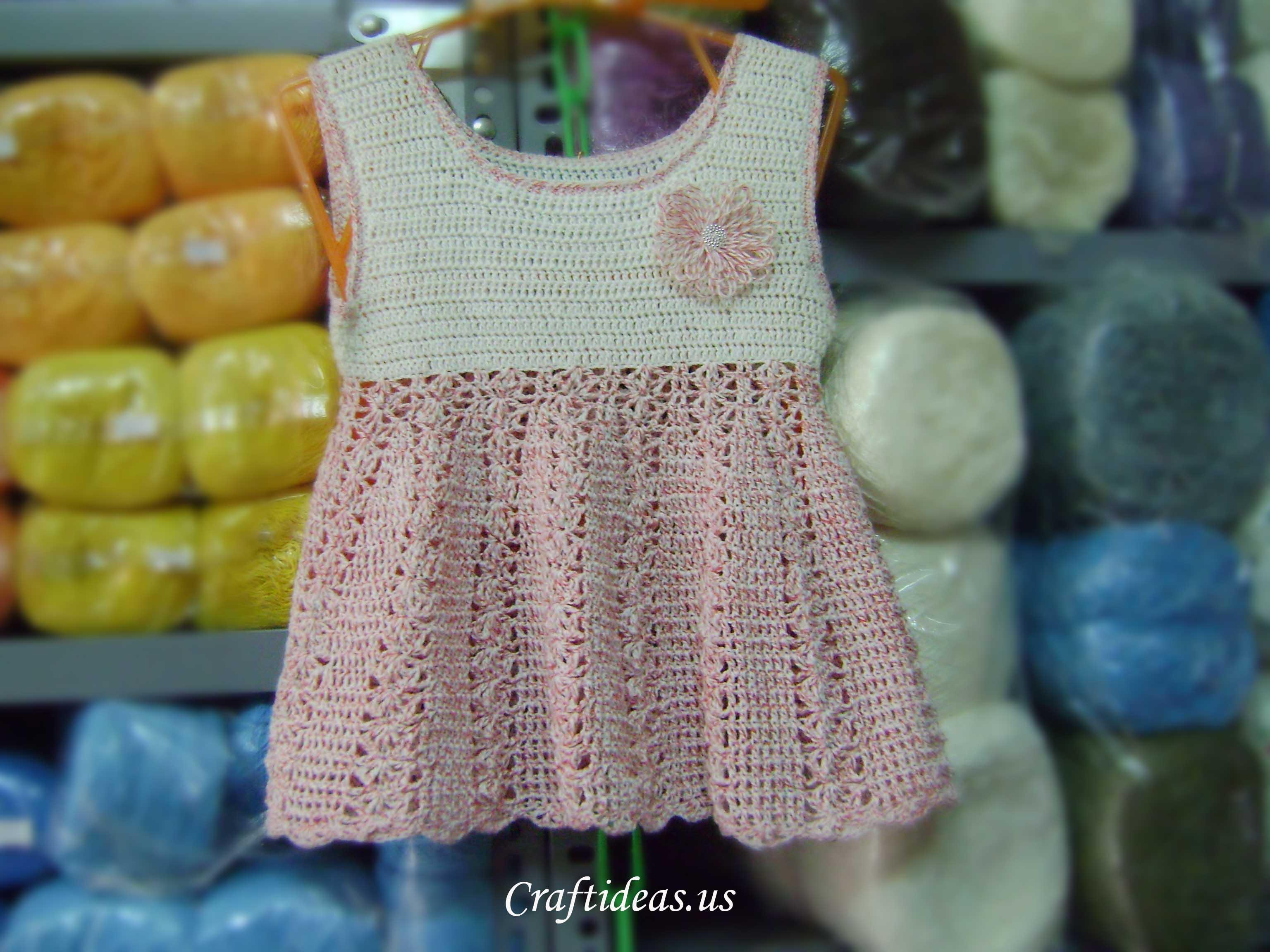 Crochet For Kids : Crochet summer dress for kids - Craft Ideas