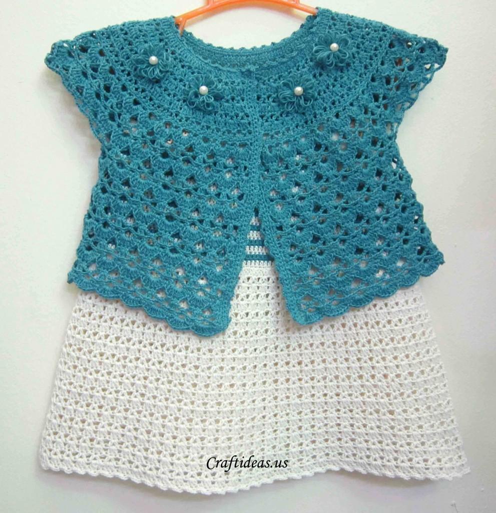 Crochet Lace Baby Jacket Make Handmade Crochet Craft
