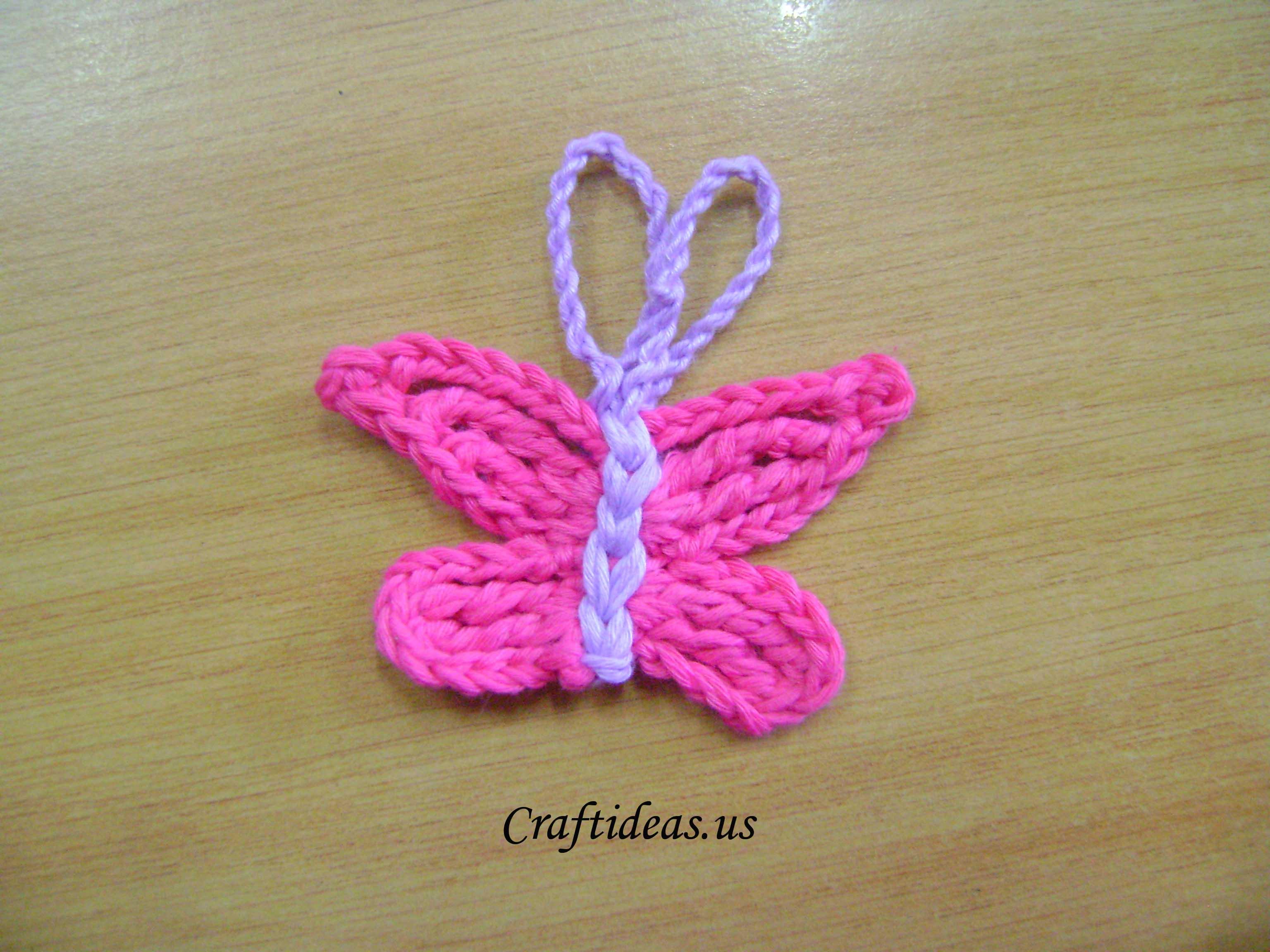 Crochet butterfly tutorial - Craft Ideas