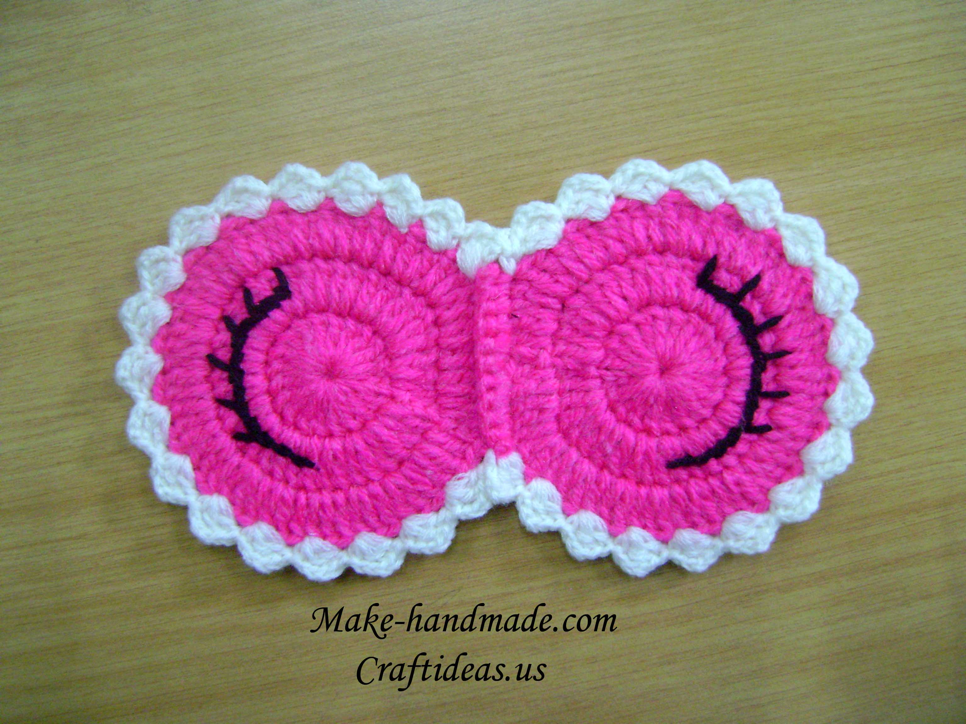 Crocheting Gifts Ideas : Crochet sleeping mask - Craft Ideas