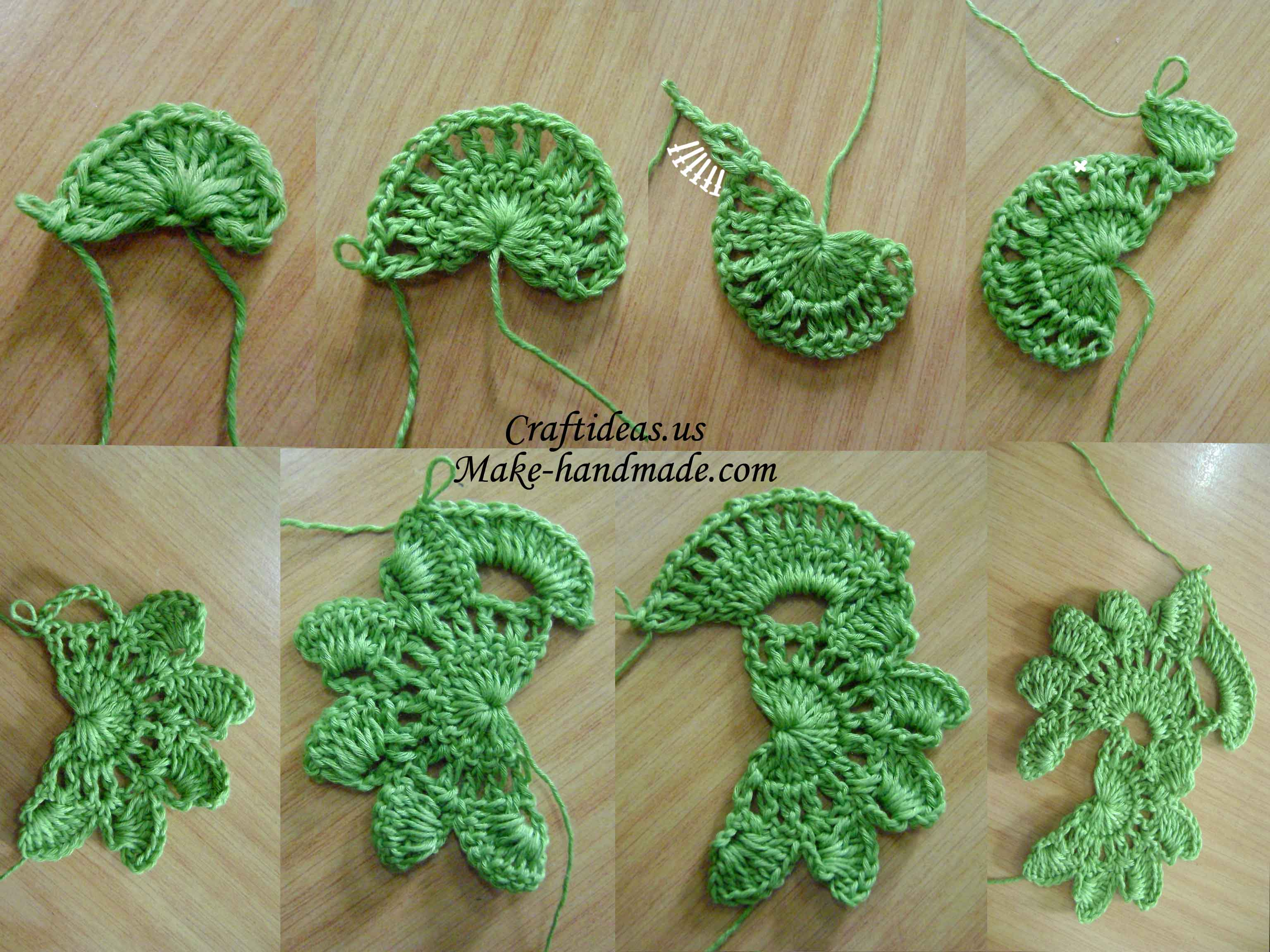 Crochet Patterns Tutorial : Crochet flower for a strip and scarf - Craft Ideas