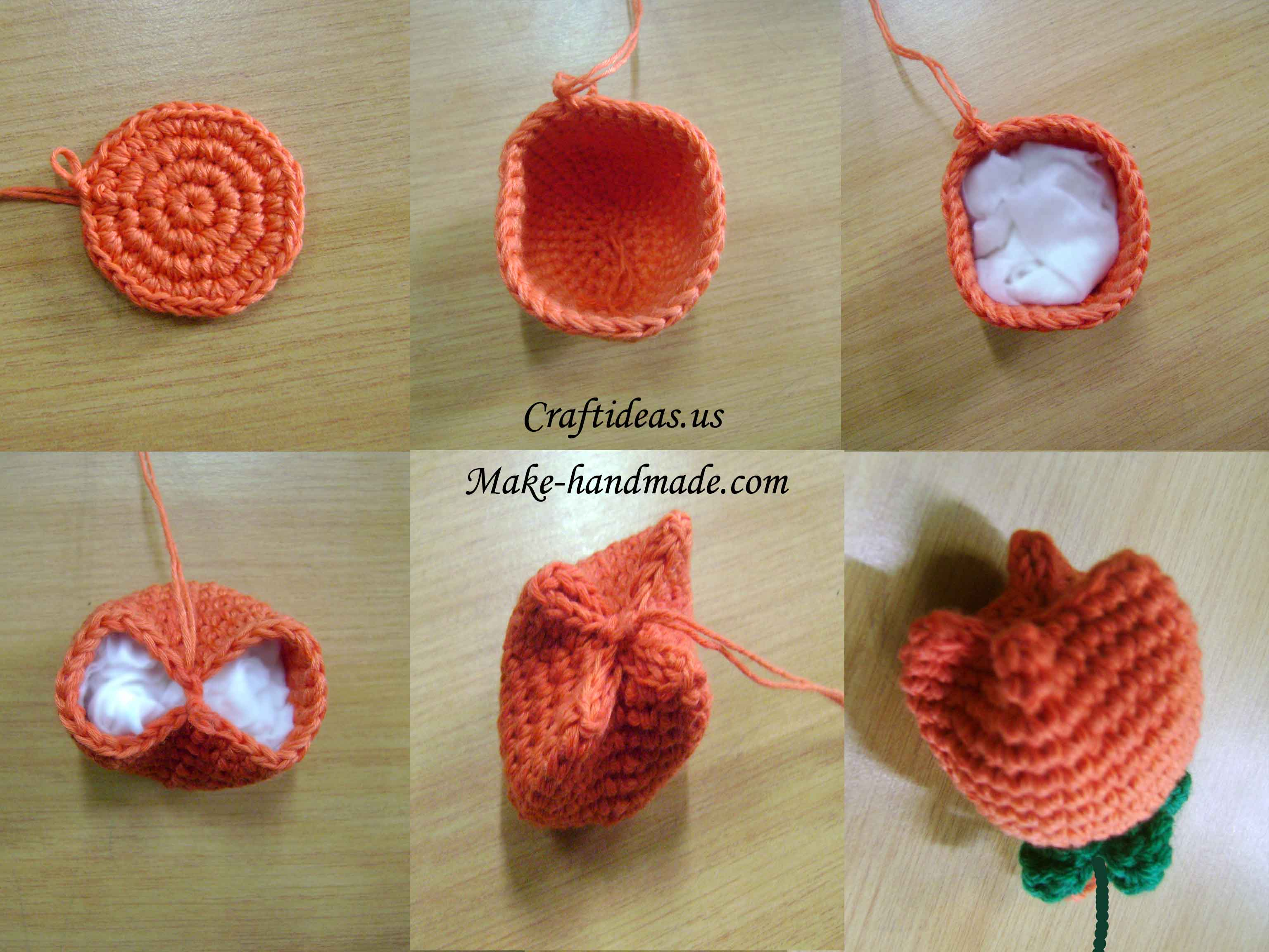 Amigurumi Flower Tutorial : Crochet tulip flower tutorial - Craft Ideas