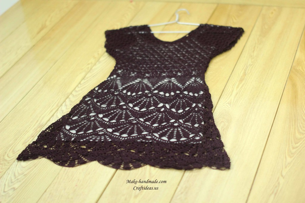 crochet charming summer lace dress