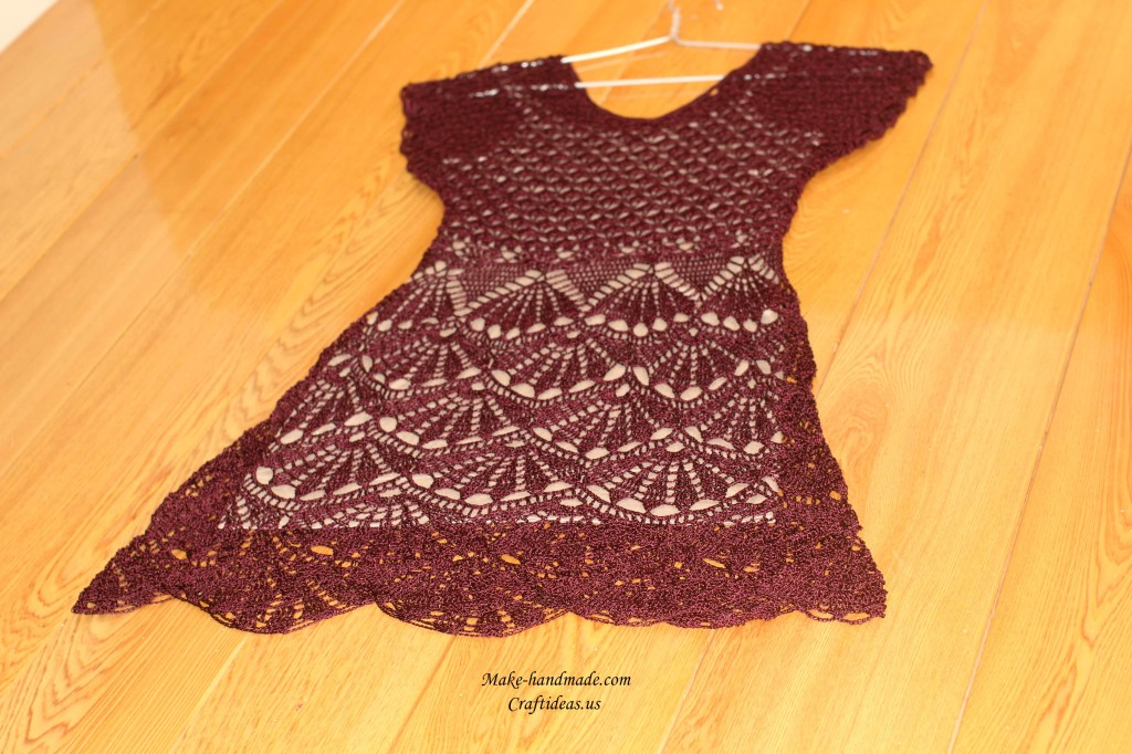 crochet lace summer dress