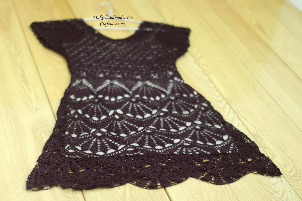 crochet summer lady dress